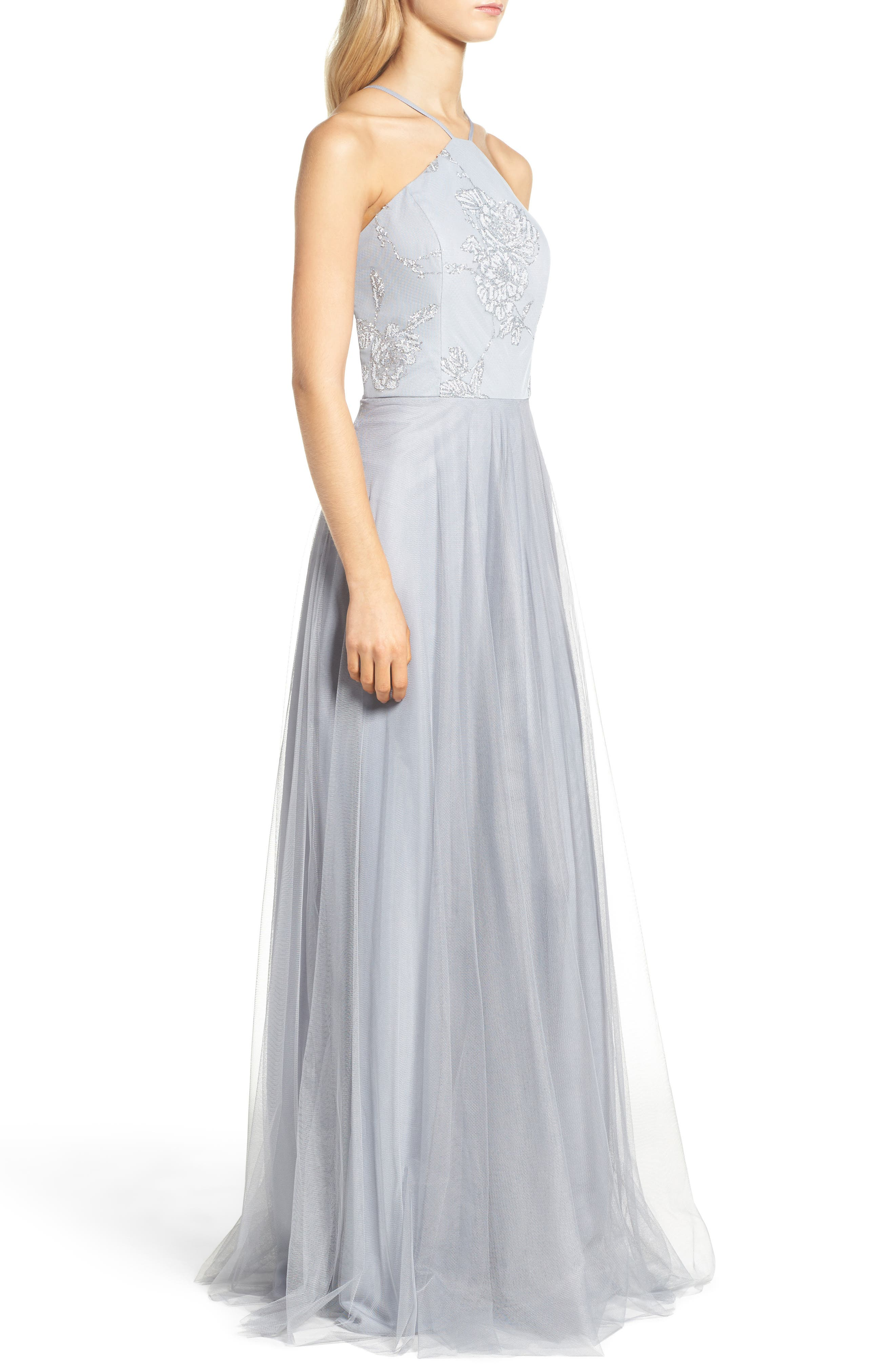 Metallic Embellished Gown,                             Alternate thumbnail 3, color,                             020