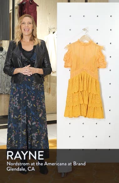 Chiffon & Broderie Anglaise Dress, sales video thumbnail