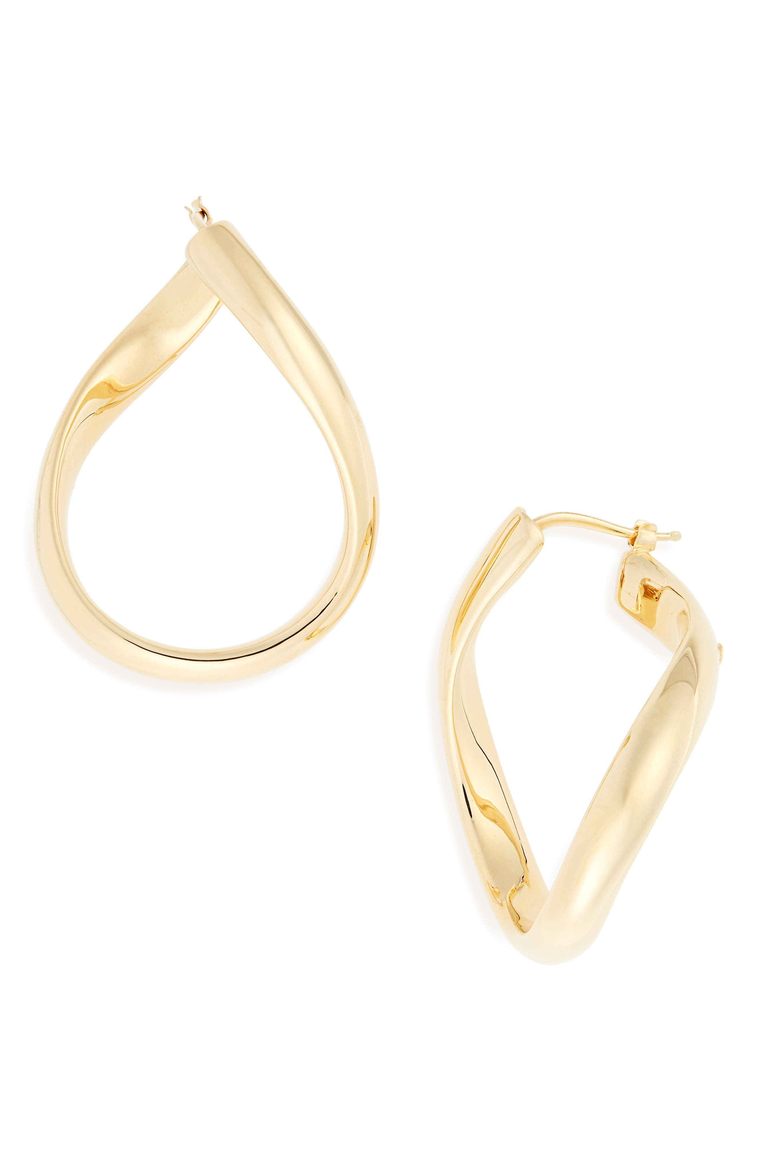 Classic Oro 18K Gold Hoop Earrings,                             Main thumbnail 1, color,                             YELLOW GOLD