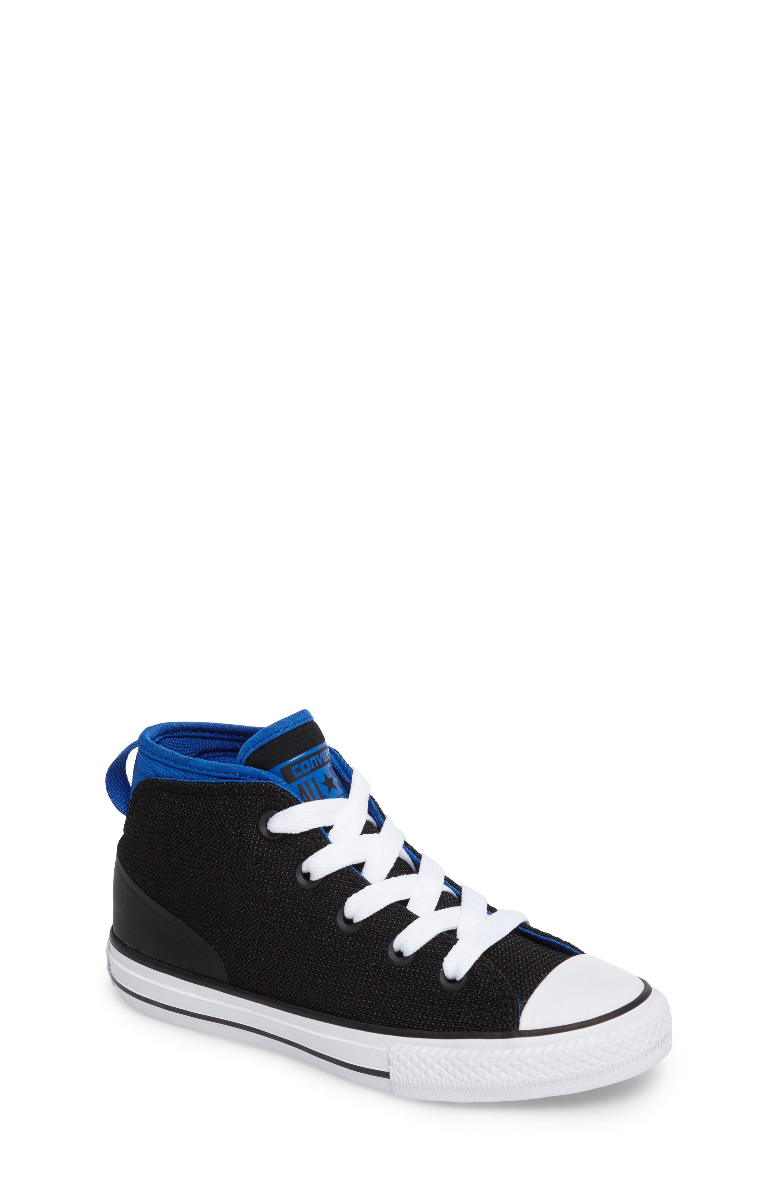 Chuck Taylor<sup>®</sup> All Star<sup>®</sup> Syde Street High Top Sneaker,                         Main,                         color, 001