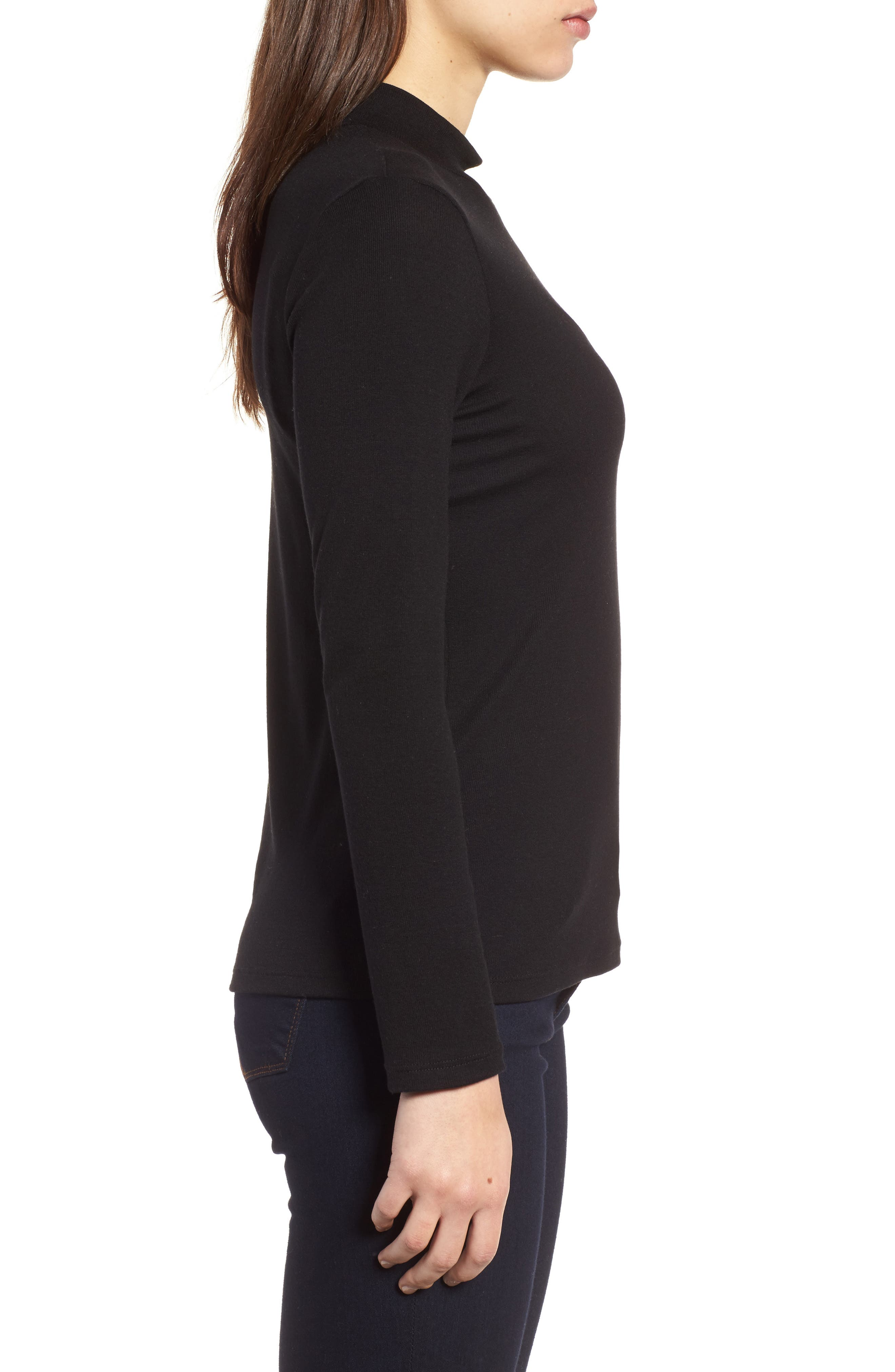 Stretch Tencel<sup>®</sup> Top,                             Alternate thumbnail 3, color,                             001