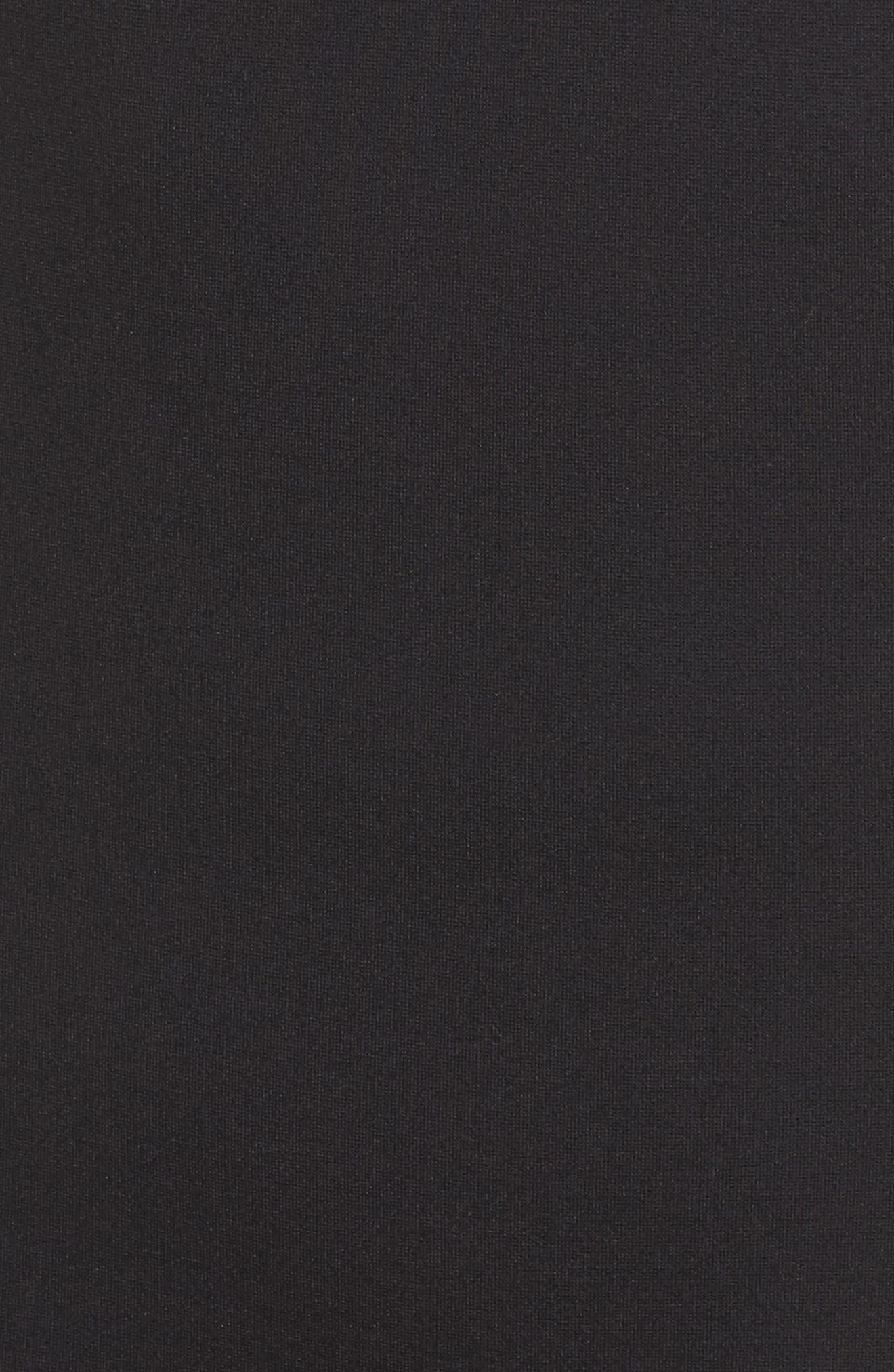 Pepa Mock Neck Sheath Dress,                             Alternate thumbnail 6, color,                             001