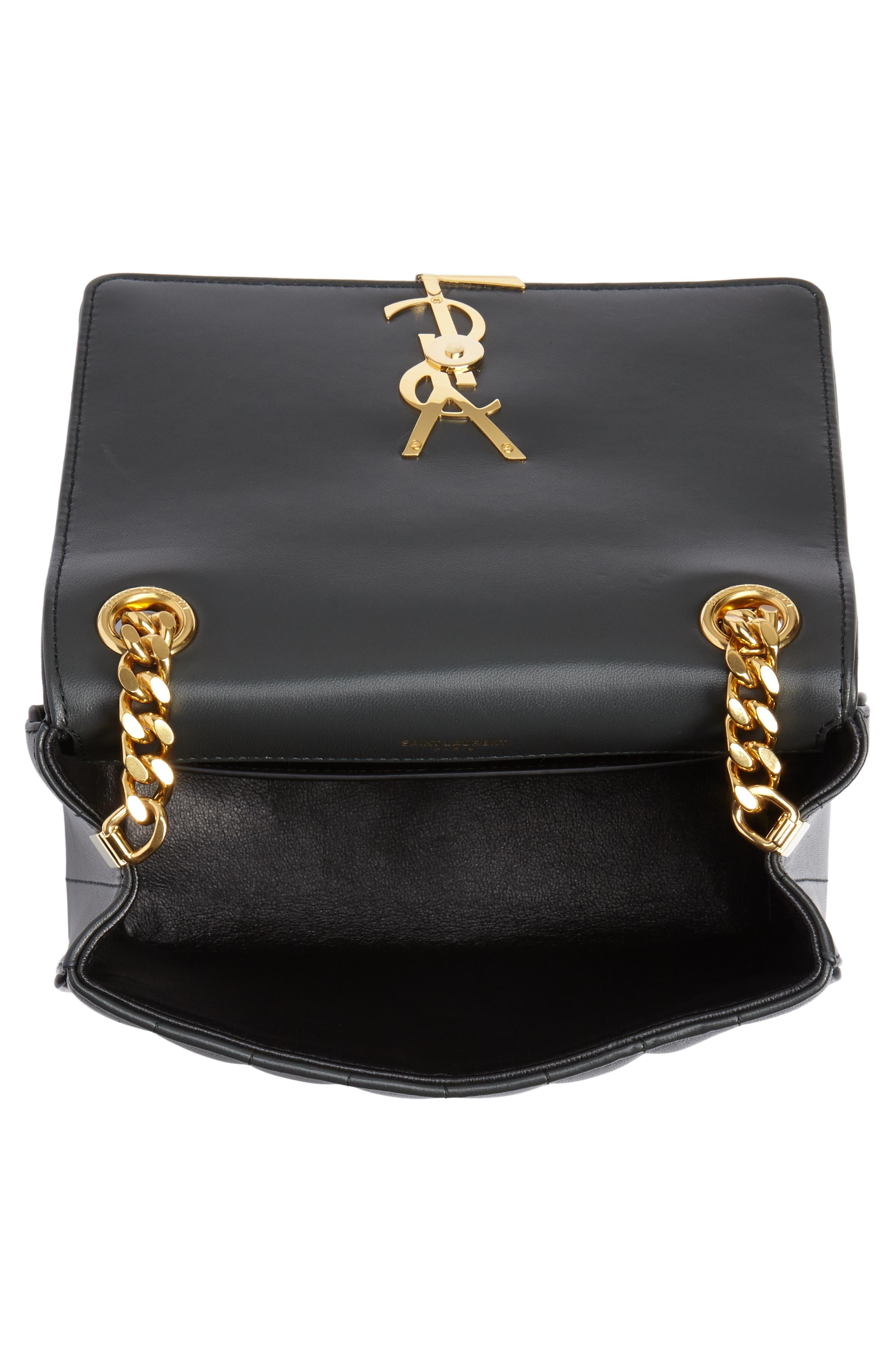 Medium Vicky Leather Crossbody Bag,                             Alternate thumbnail 4, color,                             ALGAE