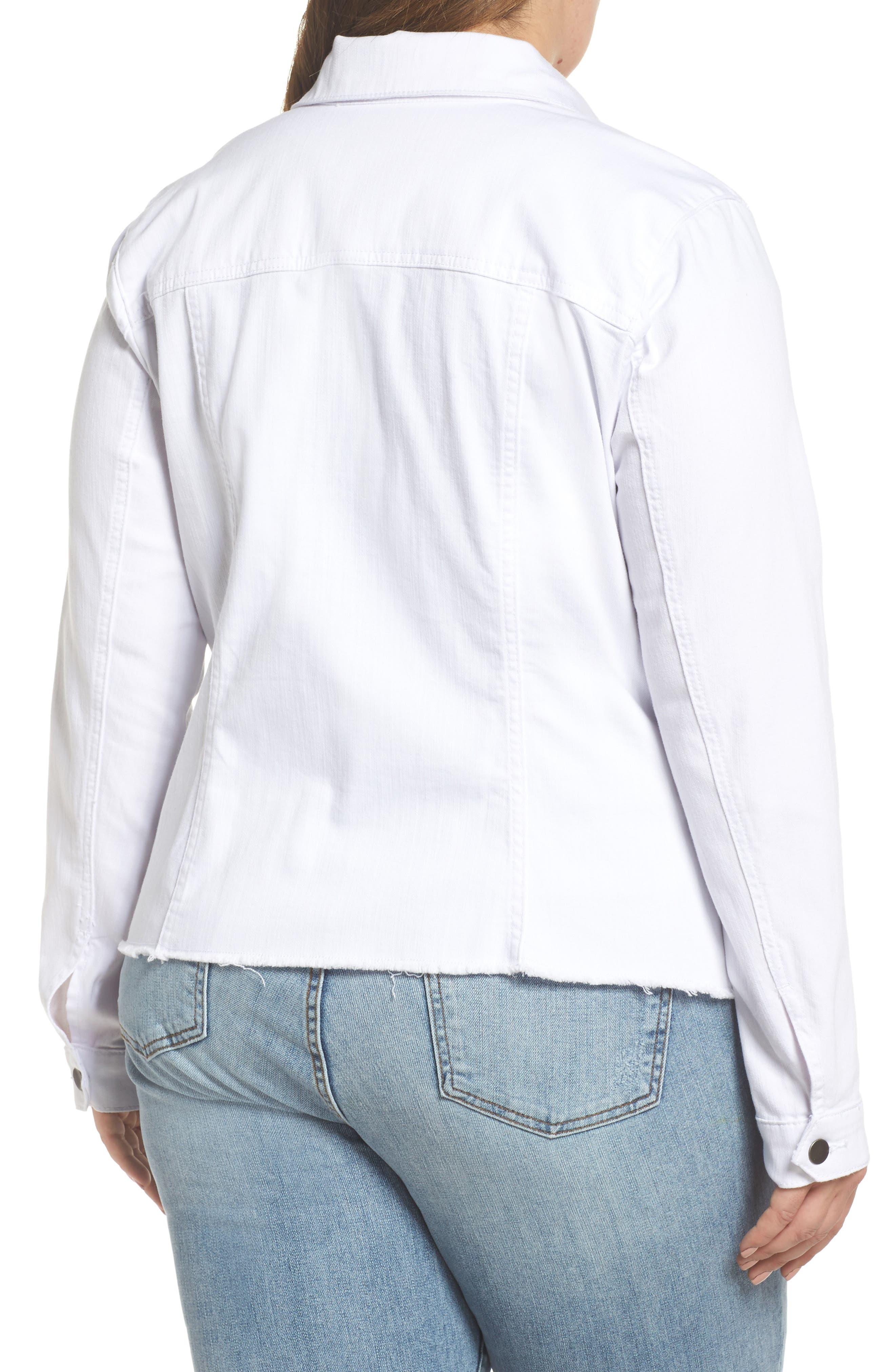 Kara Denim Jacket,                             Alternate thumbnail 2, color,                             OPTIC WHITE