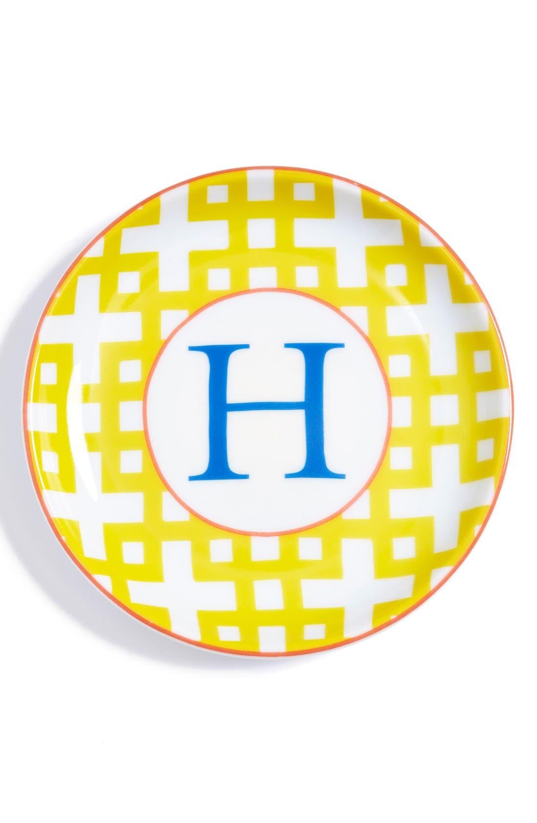 'L'Alphabet' Porcelain Tray,                             Main thumbnail 10, color,