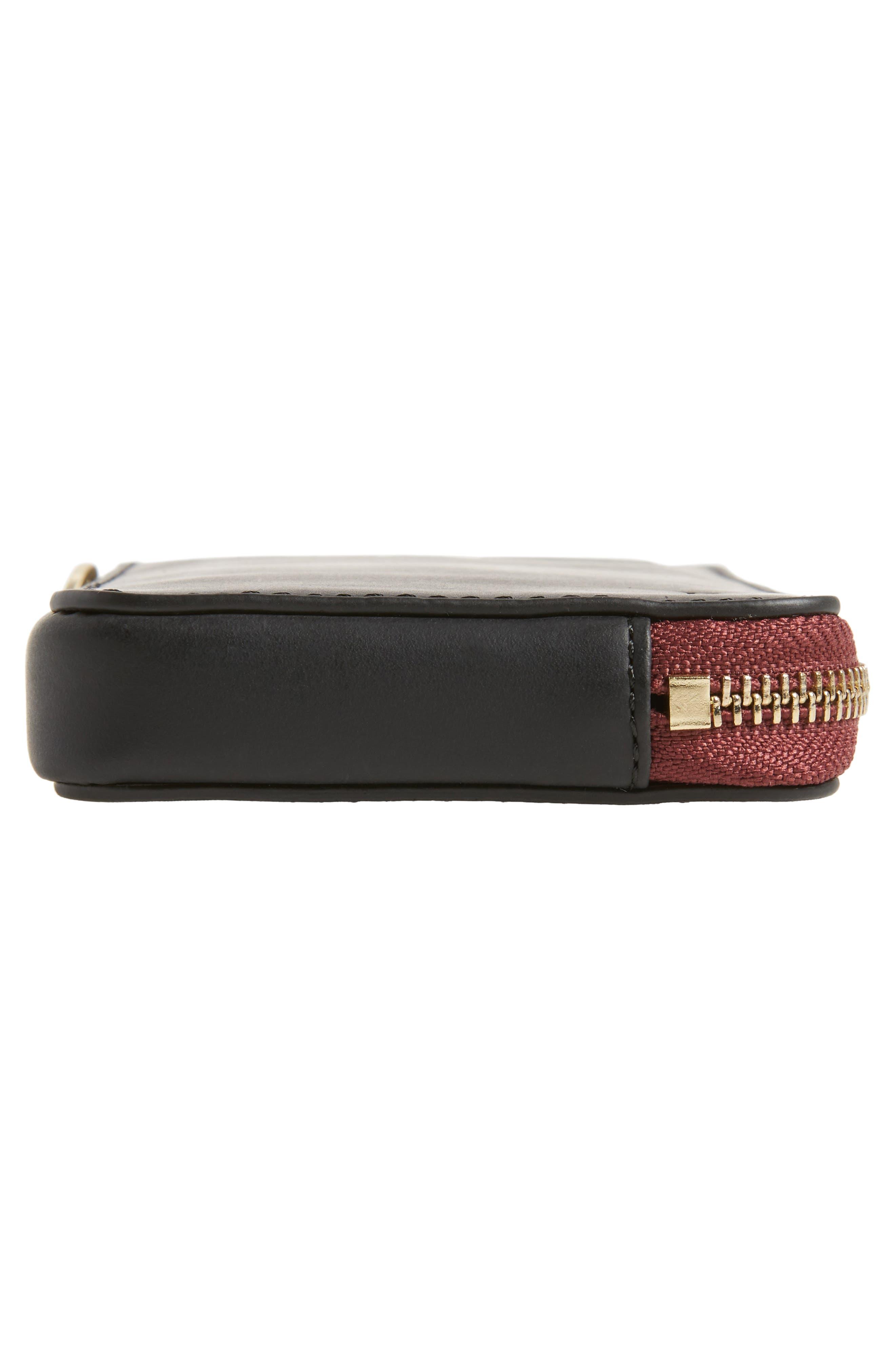 Brea Convertible Smartphone Leather Clutch,                             Alternate thumbnail 6, color,                             001