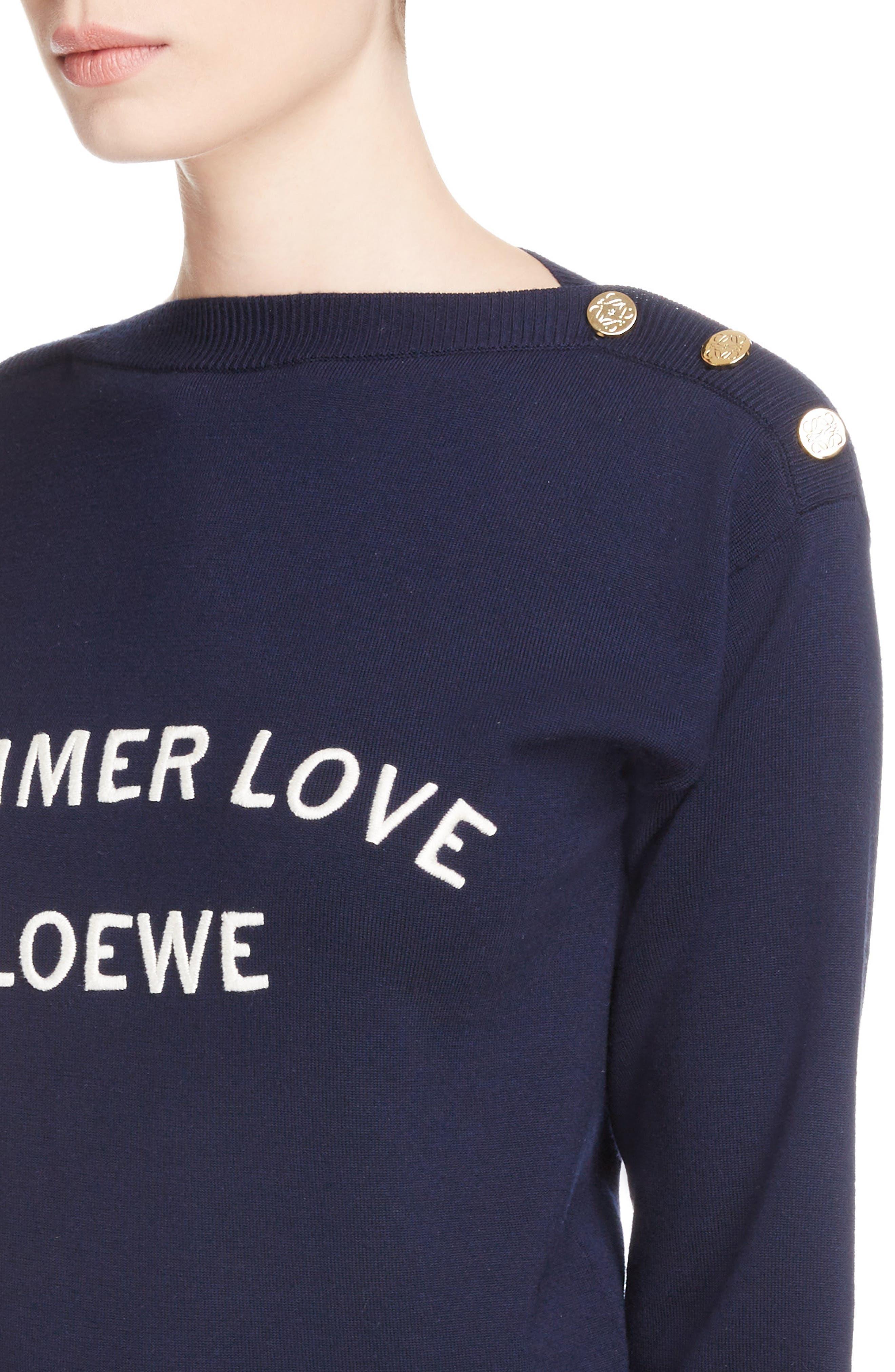 Summer Love Boatneck Sweater,                             Alternate thumbnail 4, color,                             410