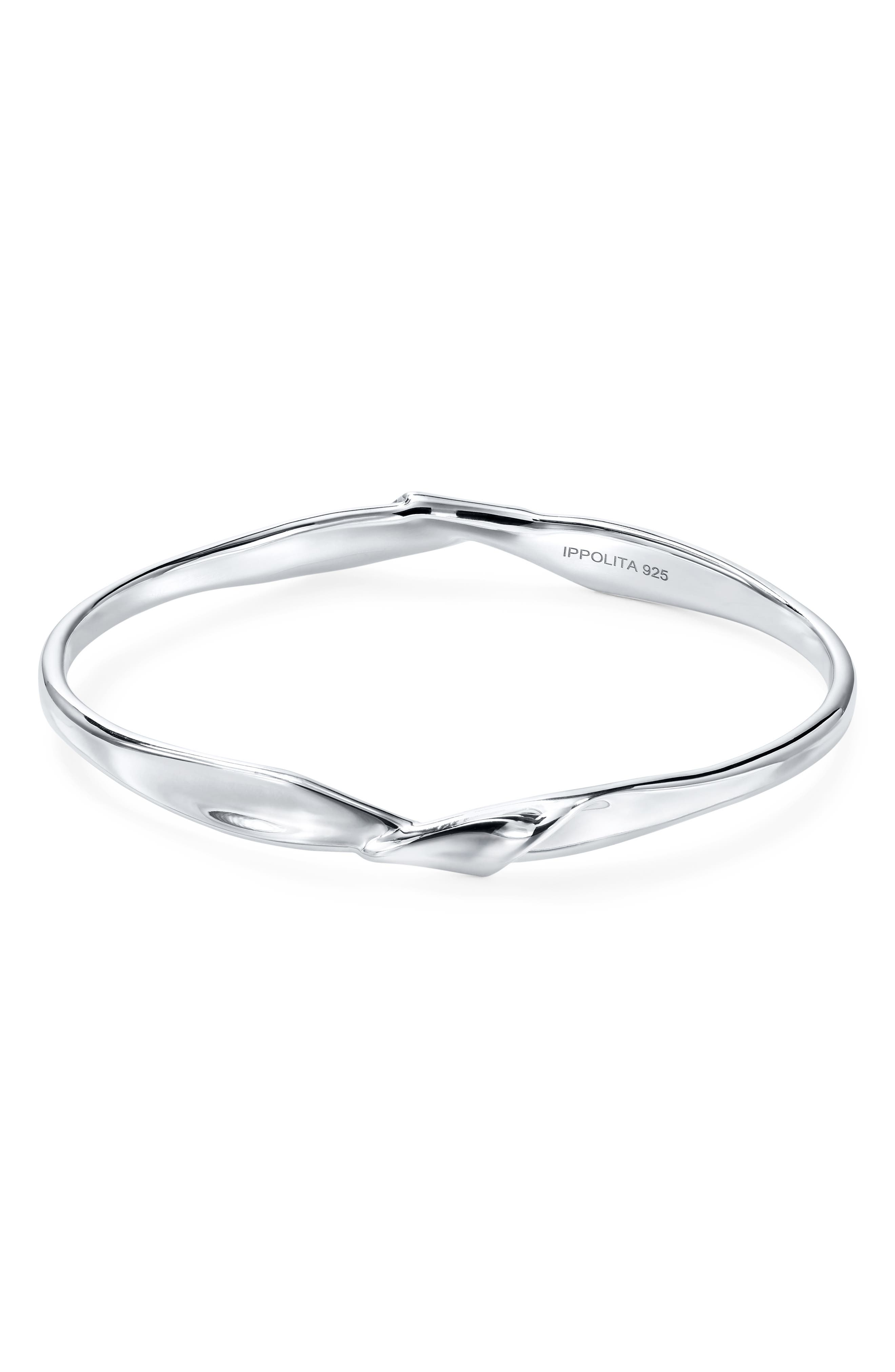 IPPOLITA Classico Sterling Silver Twisted Ribbon Bangle Bracelet