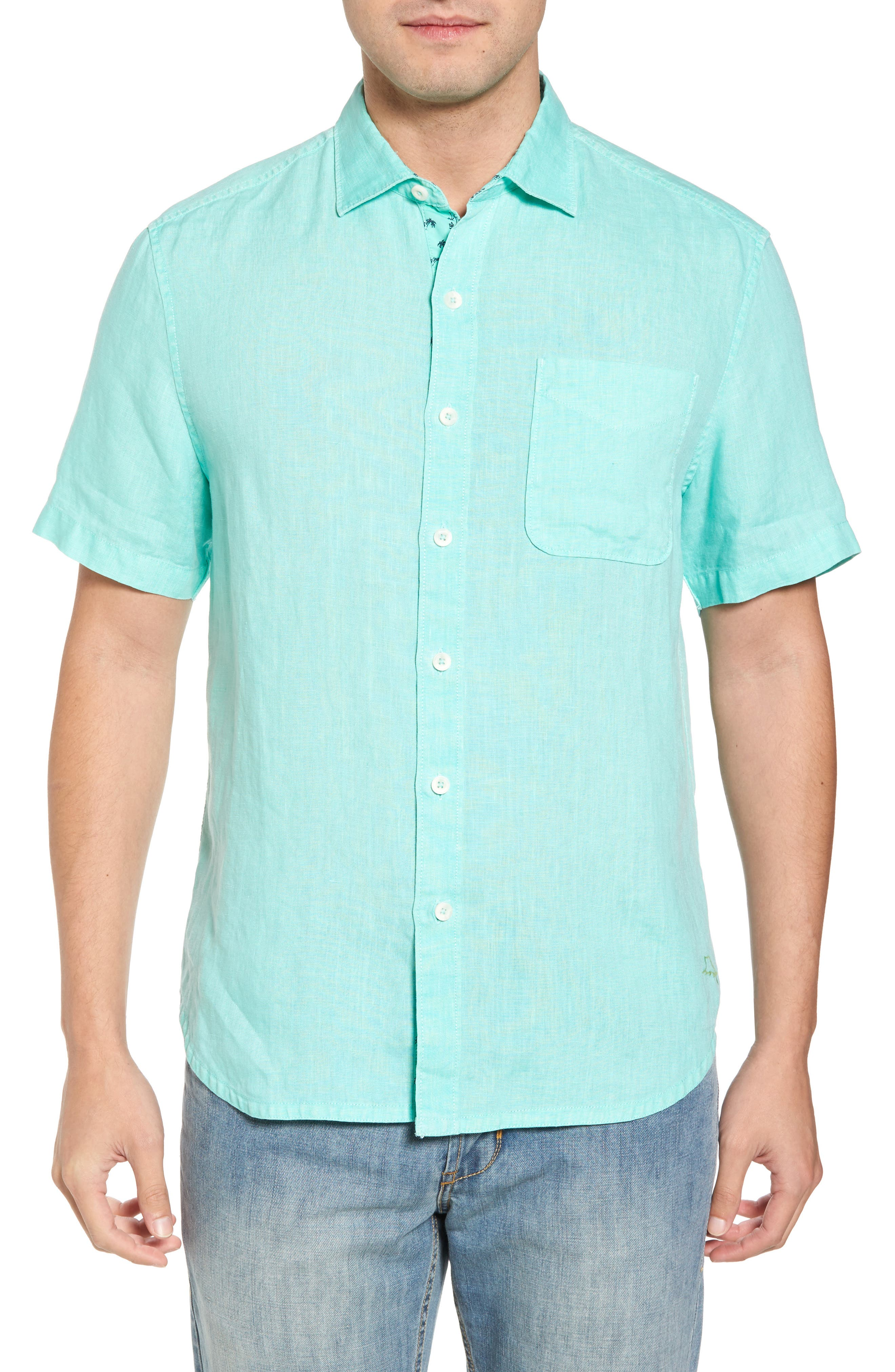 Seaspray Breezer Regular Fit Linen Sport Shirt,                             Main thumbnail 3, color,