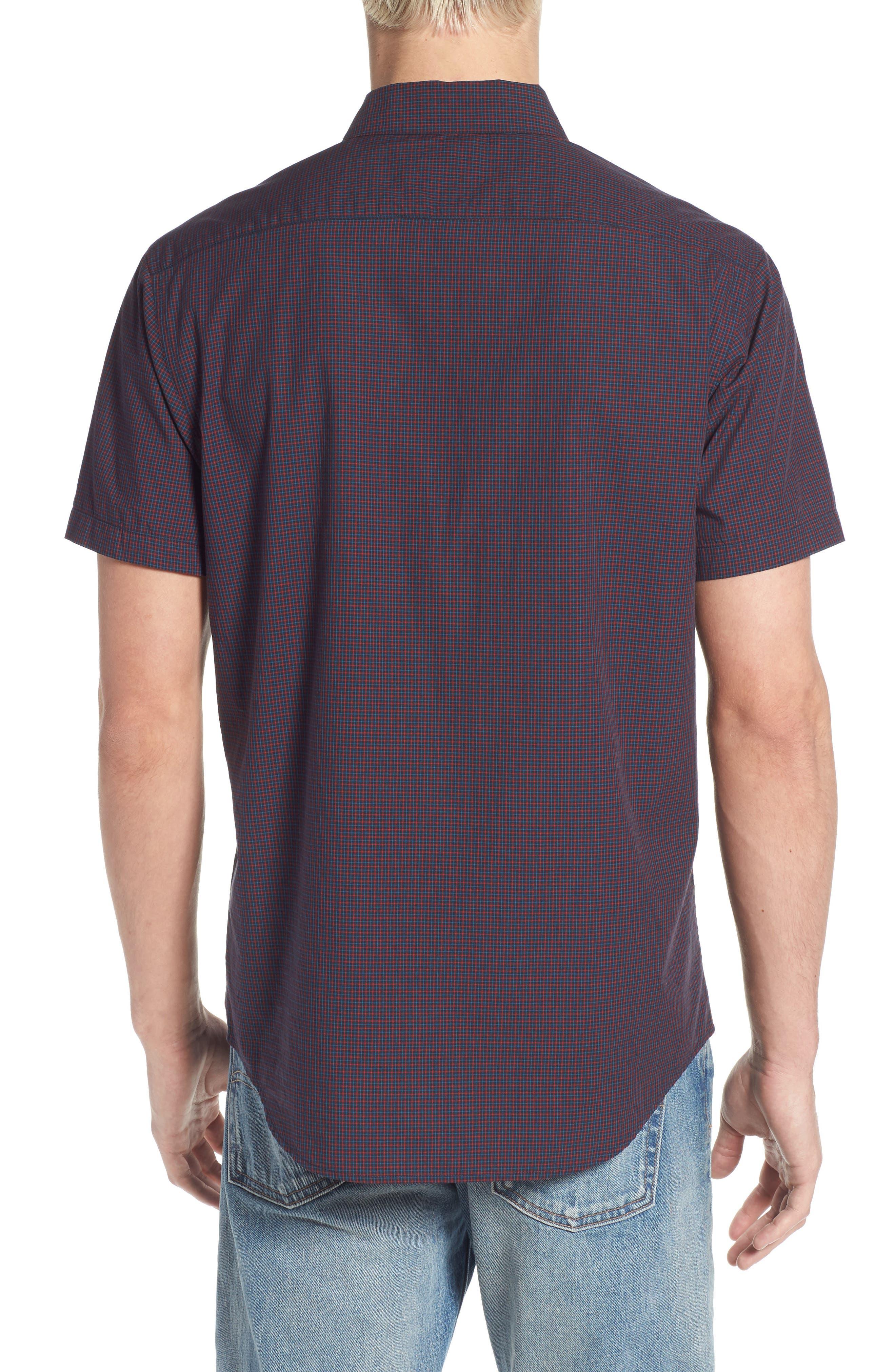 Staple Woven Shirt,                             Alternate thumbnail 2, color,                             NEW NAVY