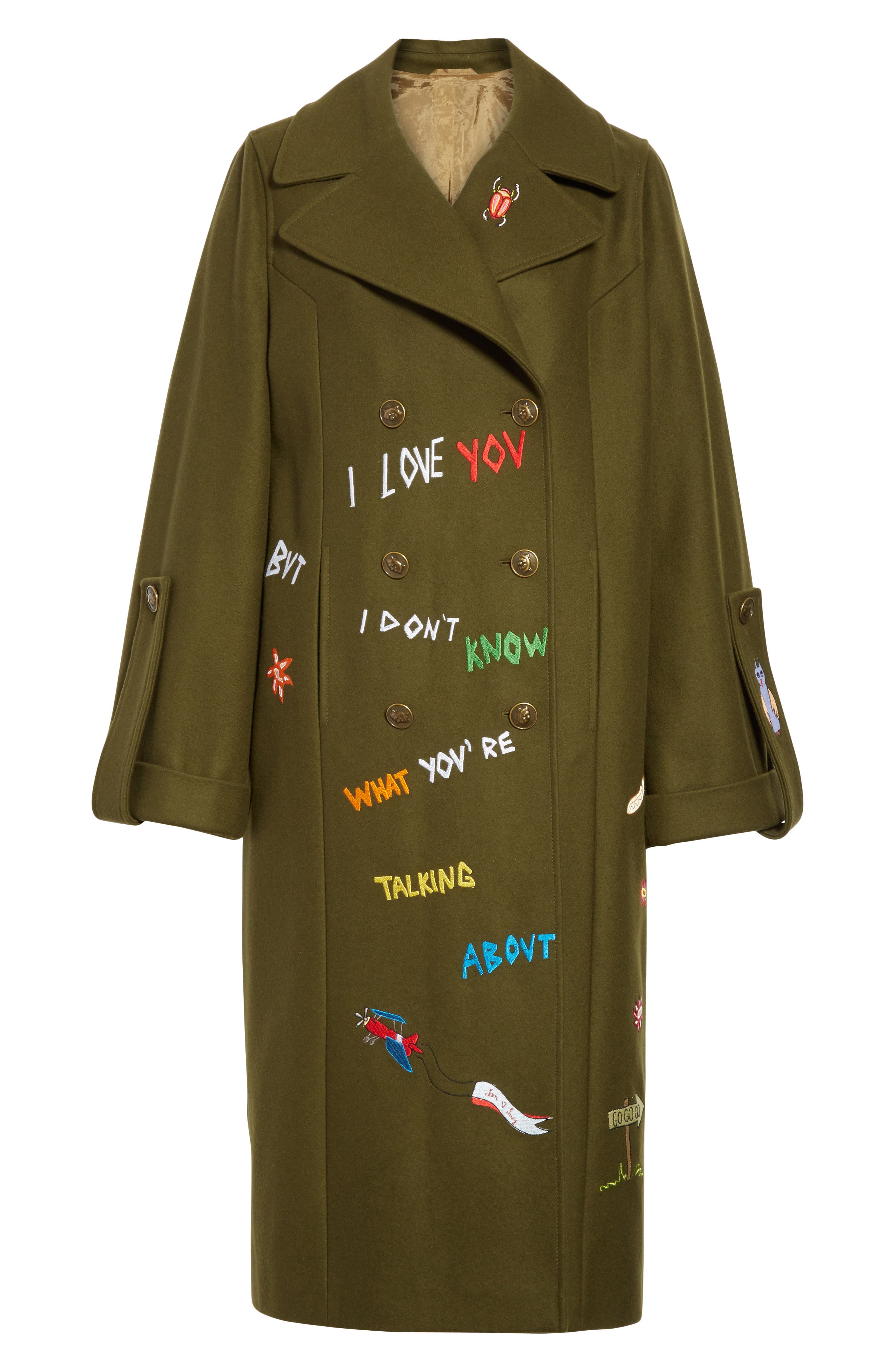 Adventure Embroidered Coat,                             Alternate thumbnail 5, color,                             340