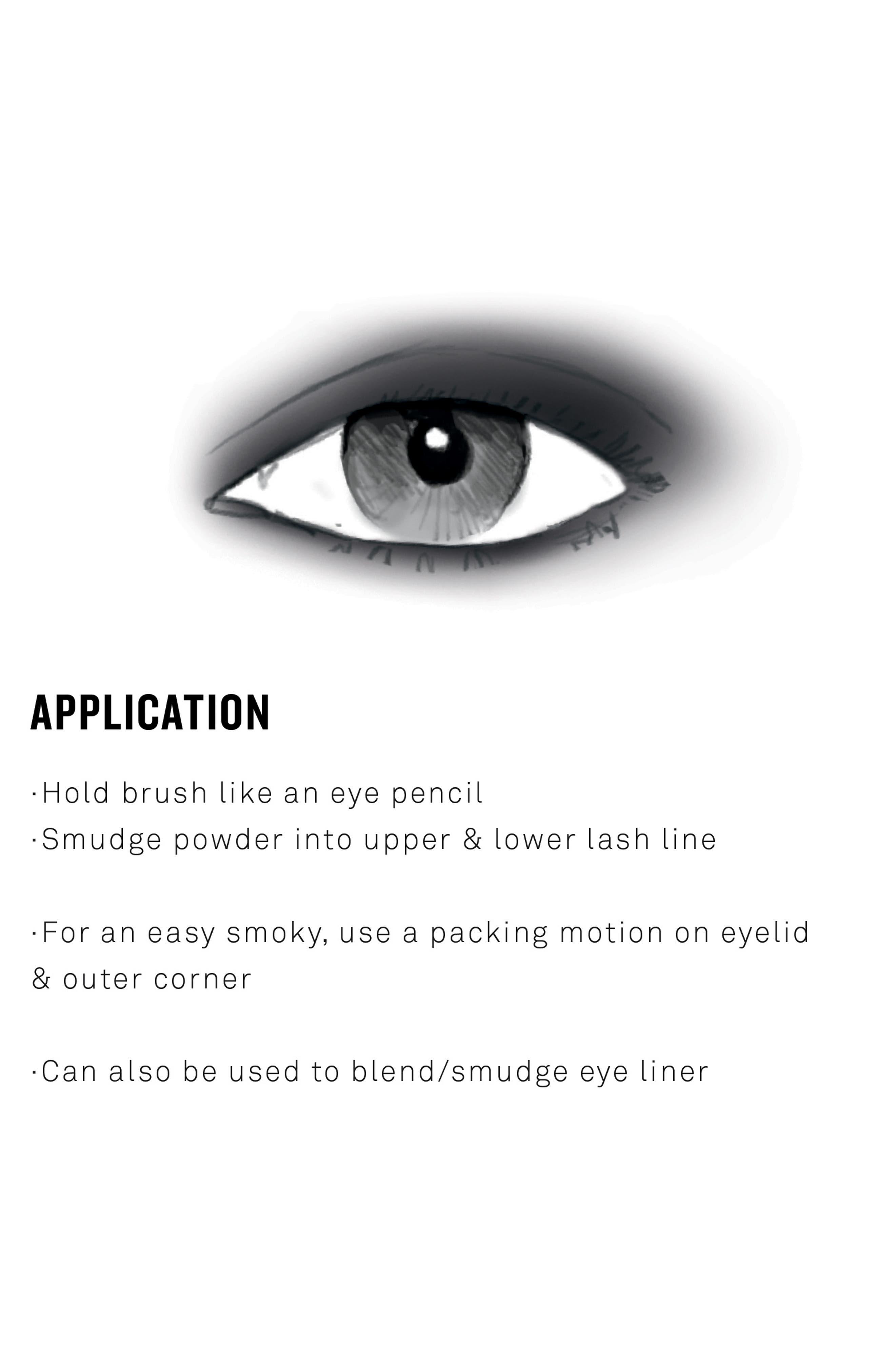 Smoky Eyeshadow Brush,                             Alternate thumbnail 4, color,                             000