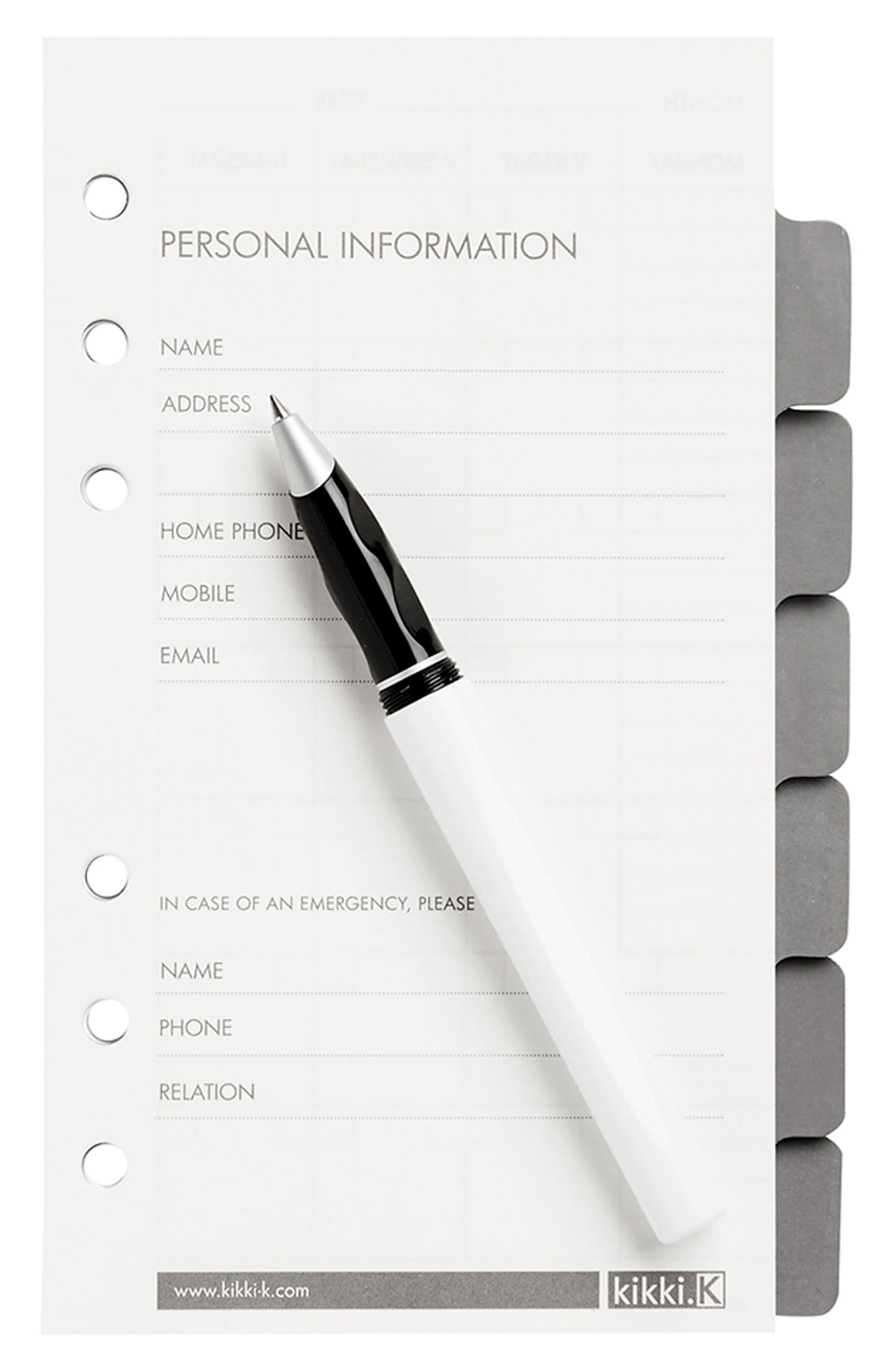 Personal Planner Refills,                             Alternate thumbnail 2, color,                             100