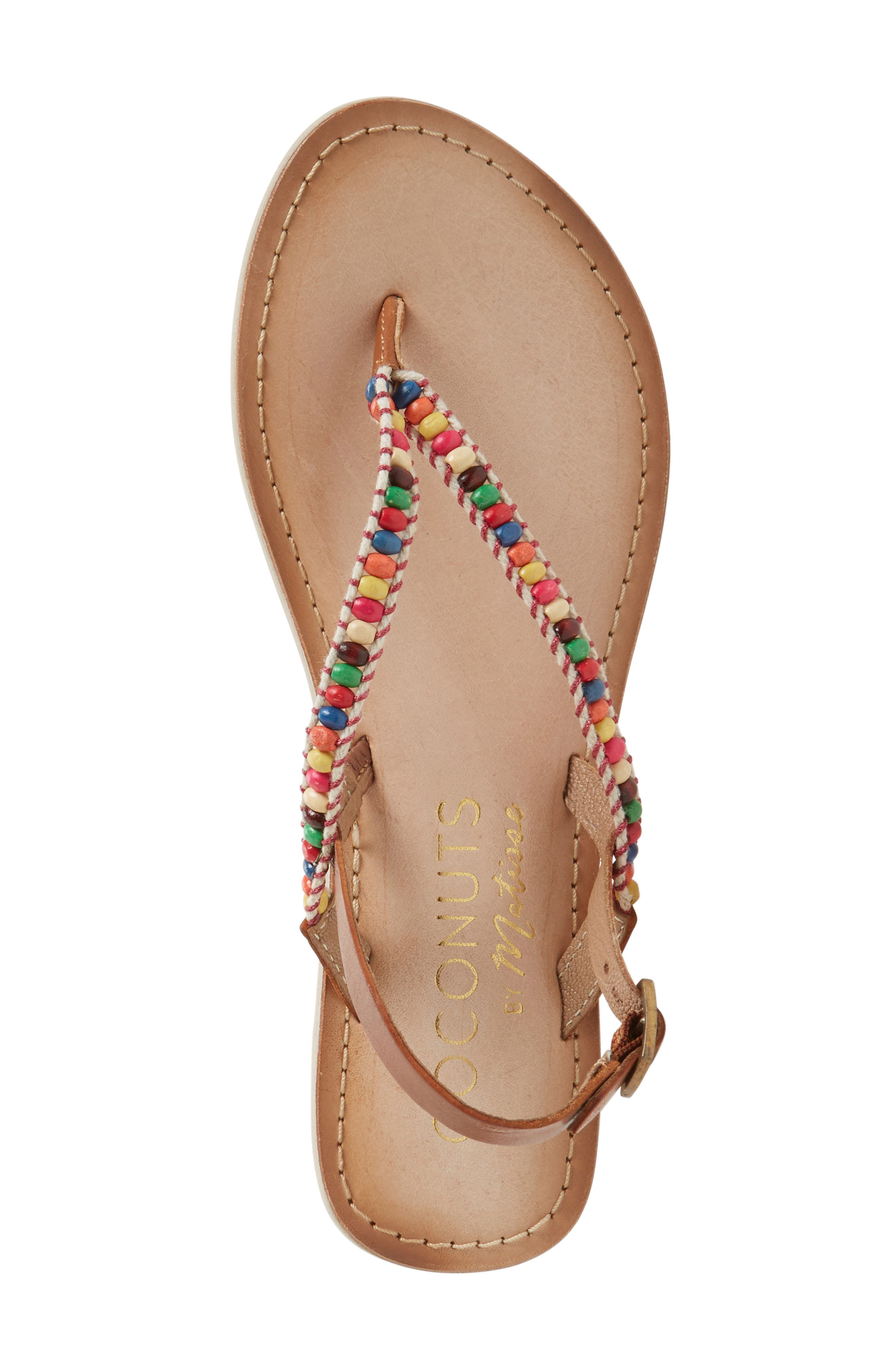 Coconuts by Matisse Celebration Beaded Sandal,                             Alternate thumbnail 6, color,