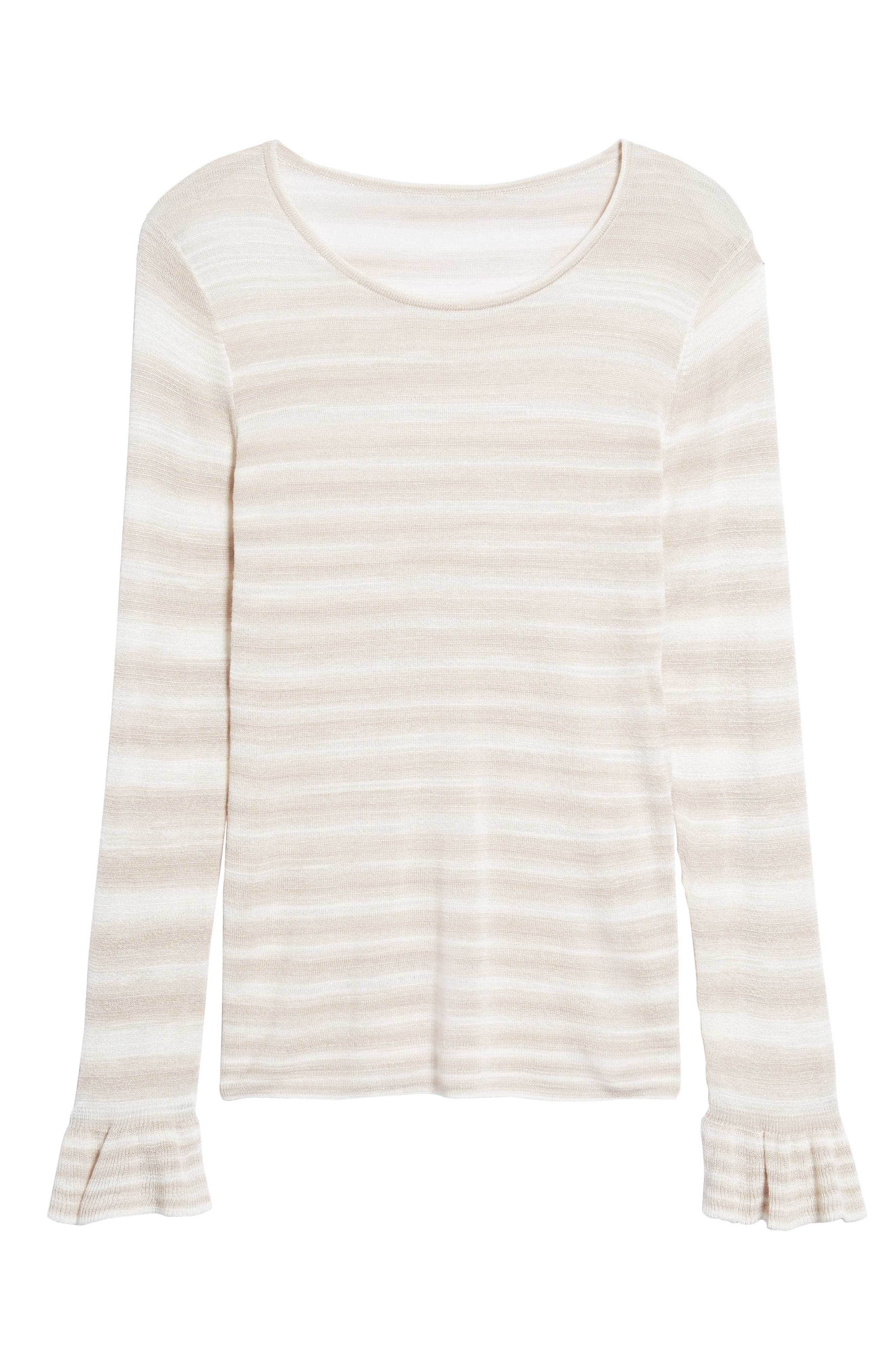 Gradient Stripe Sweater,                             Alternate thumbnail 6, color,                             250