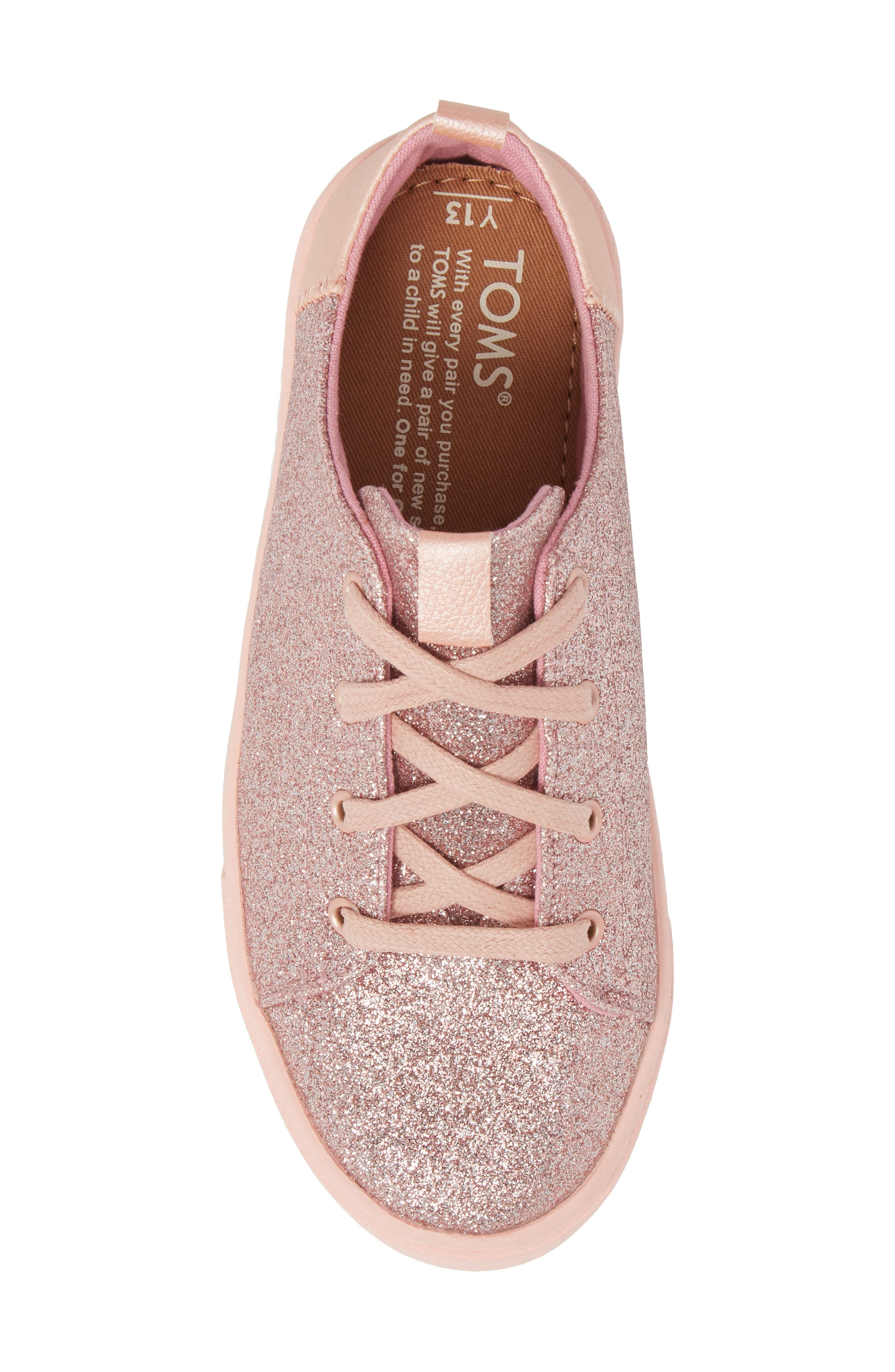 TOMS,                             Lenny Metallic Glitter Sneaker,                             Alternate thumbnail 5, color,                             650