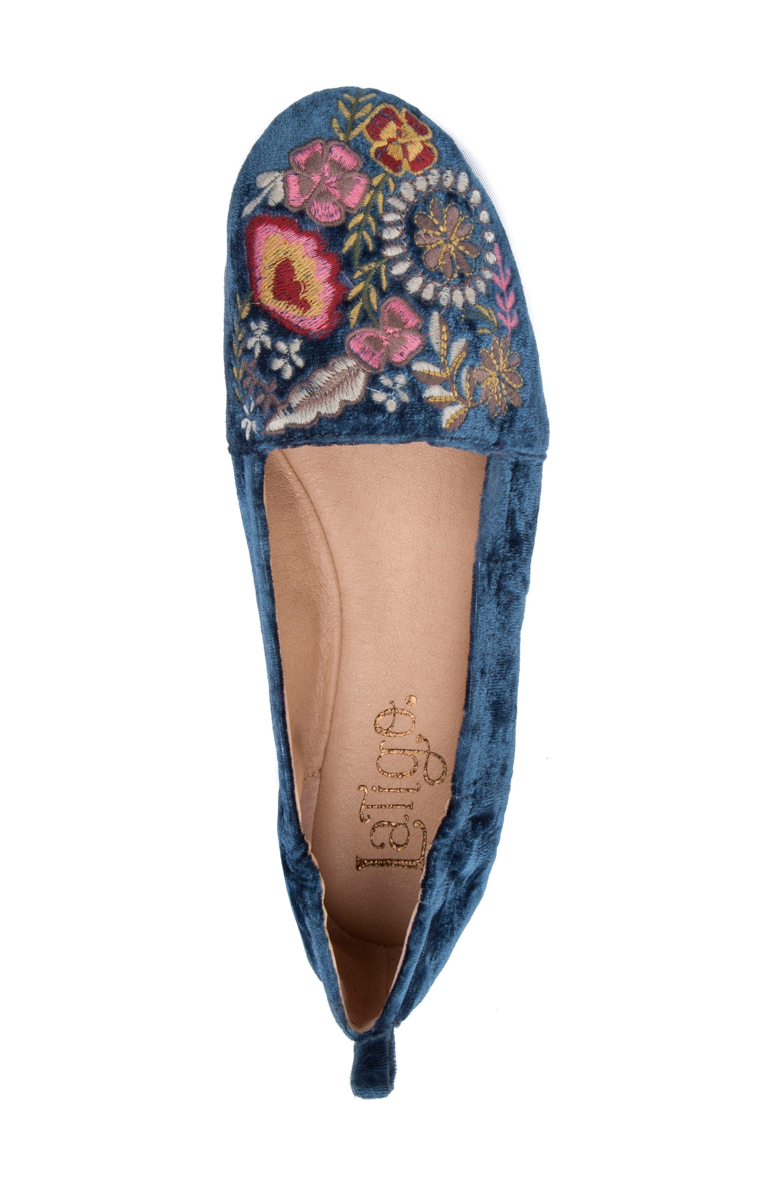 Gayla Floral Embroidered Flat,                             Alternate thumbnail 13, color,