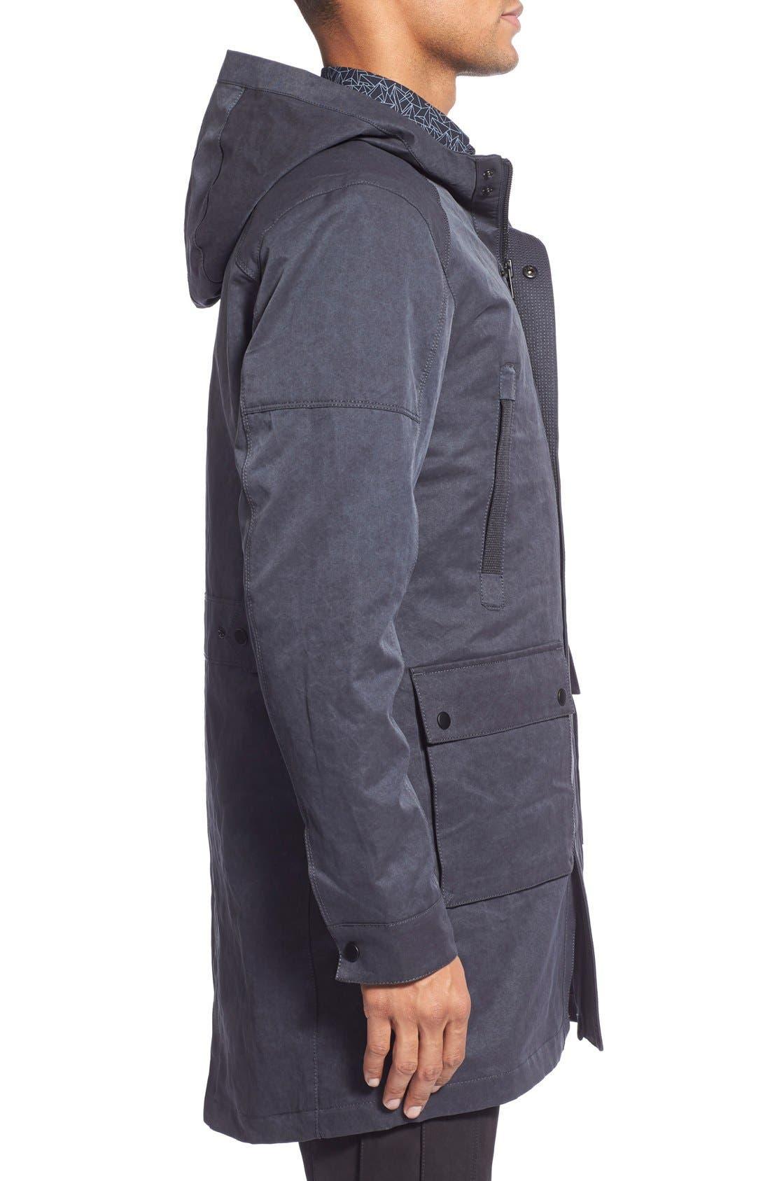 'Kodiak' Water Resistant Coated Hooded Parka,                             Alternate thumbnail 5, color,                             410