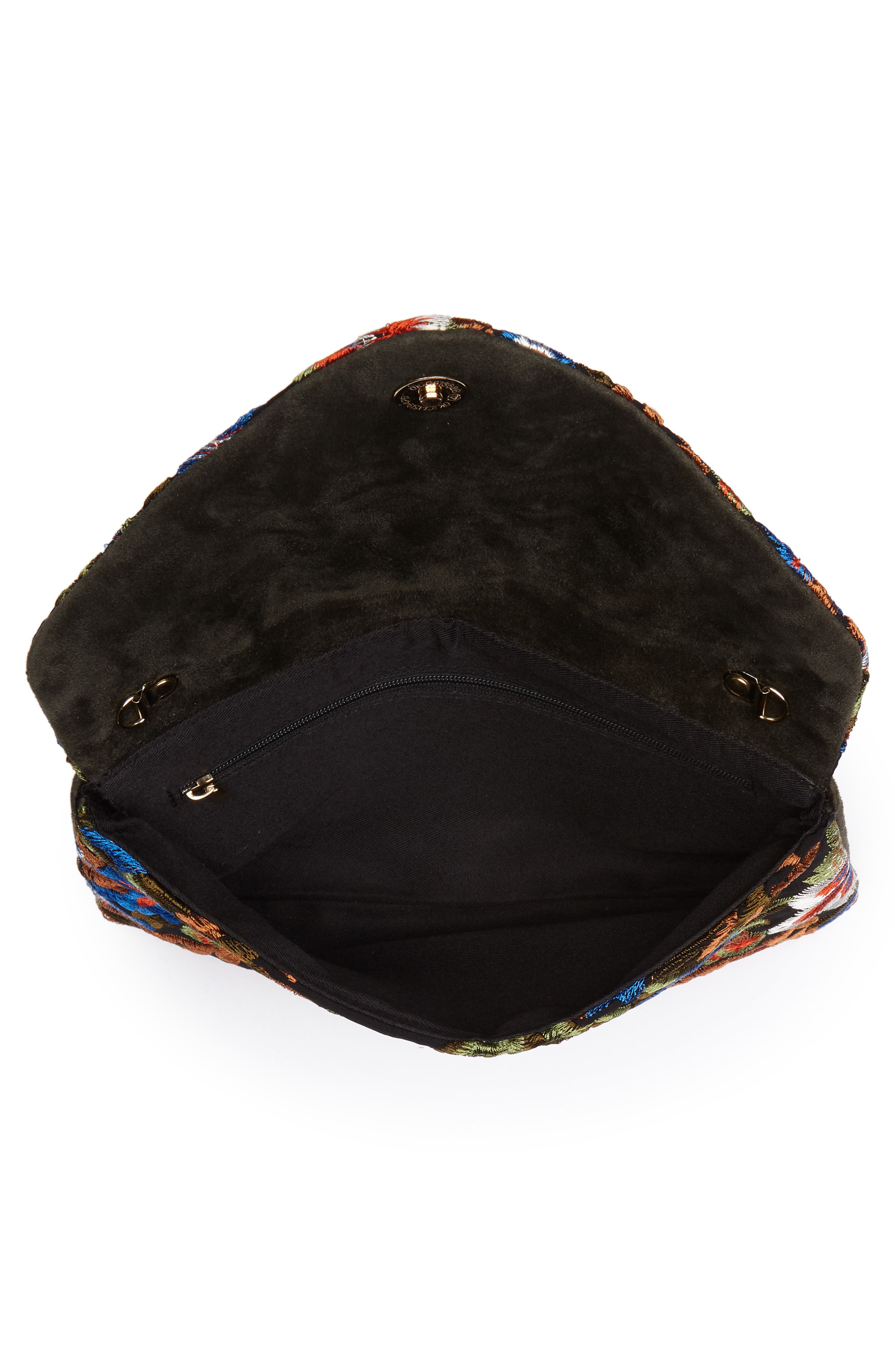 Embroidered Envelope Clutch,                             Alternate thumbnail 4, color,                             461
