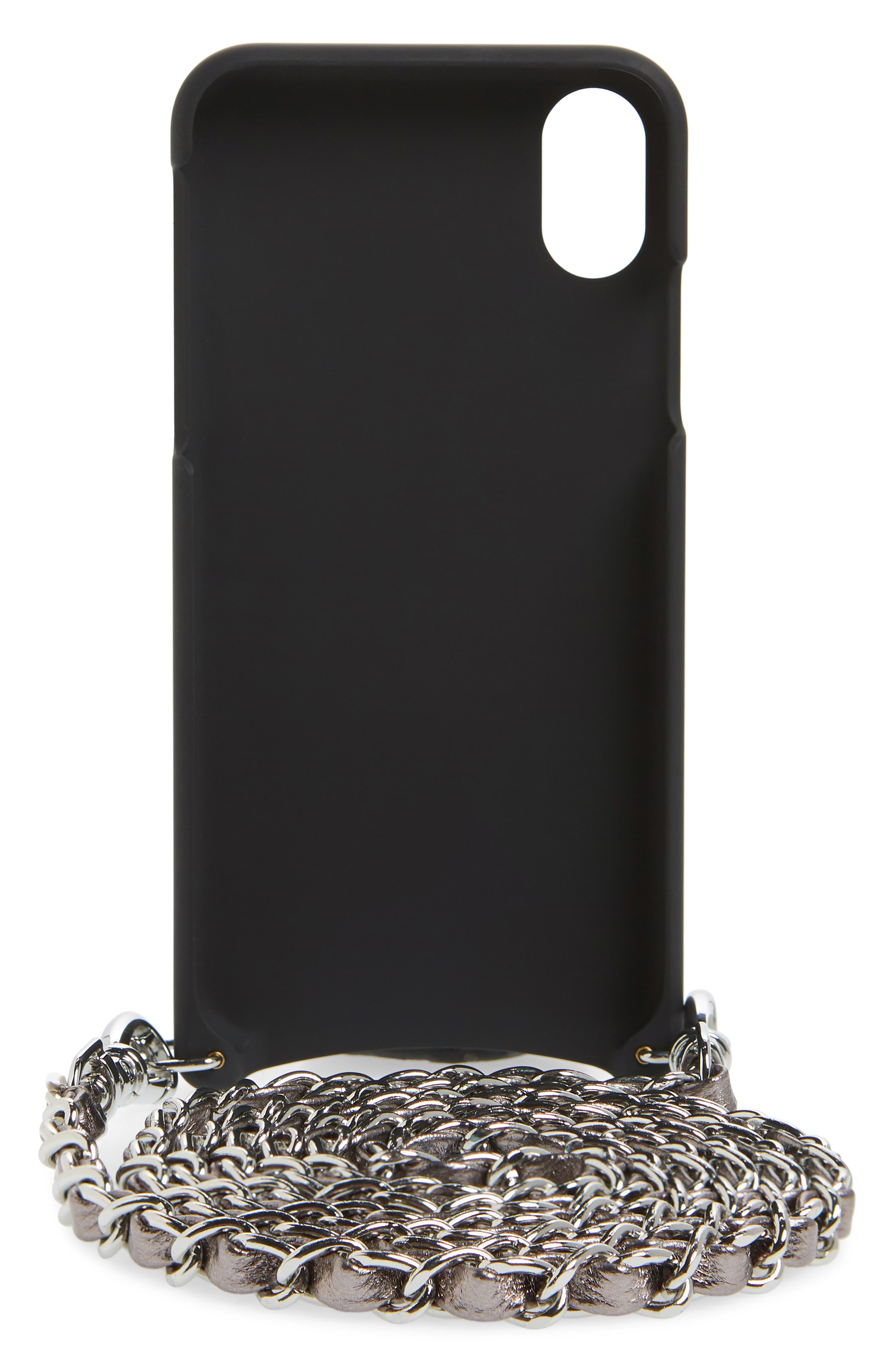Lucy Faux Leather iPhone X/Xs Crossbody Case,                             Alternate thumbnail 3, color,                             040