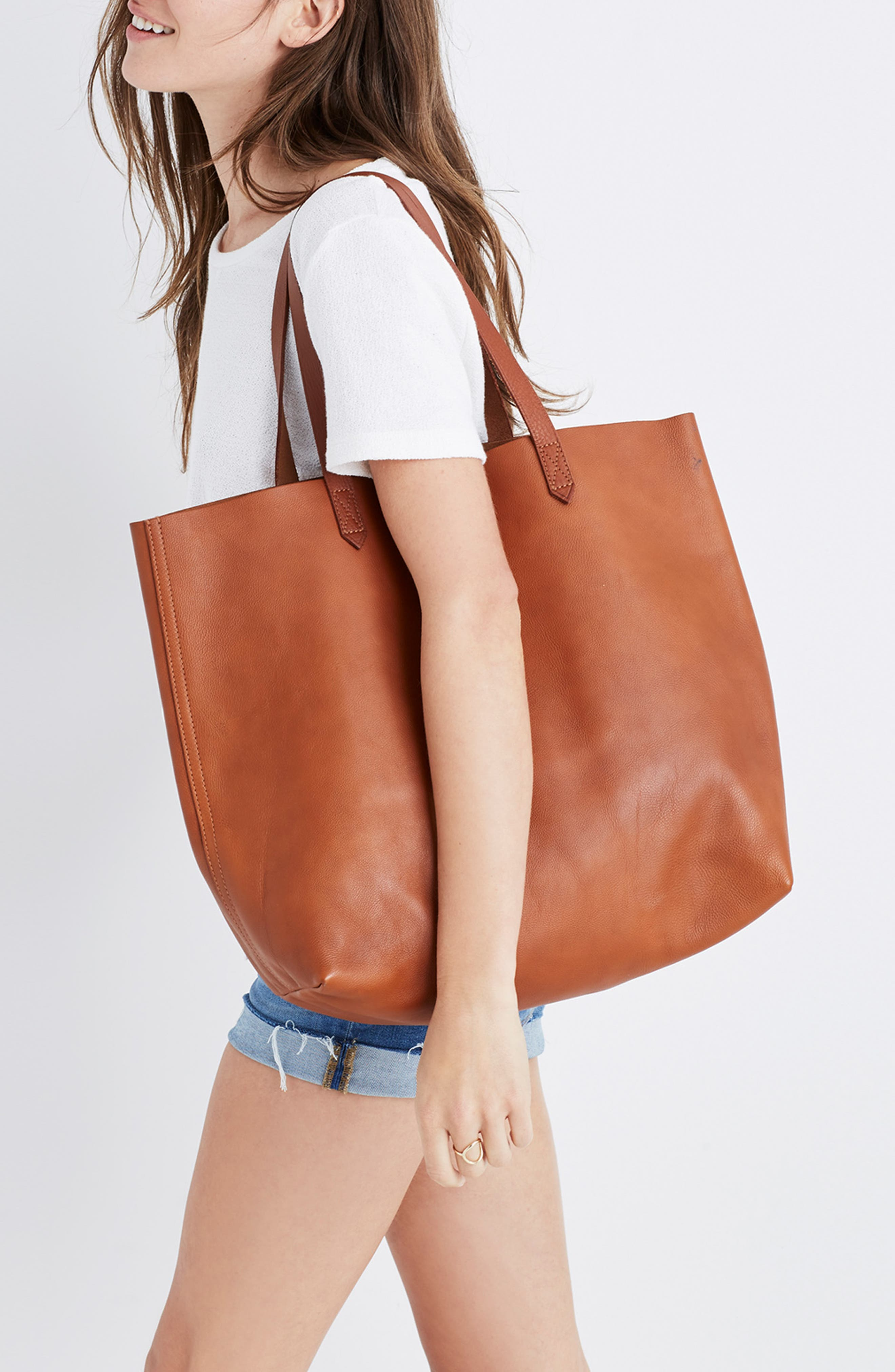 Medium Leather Transport Tote,                             Alternate thumbnail 45, color,