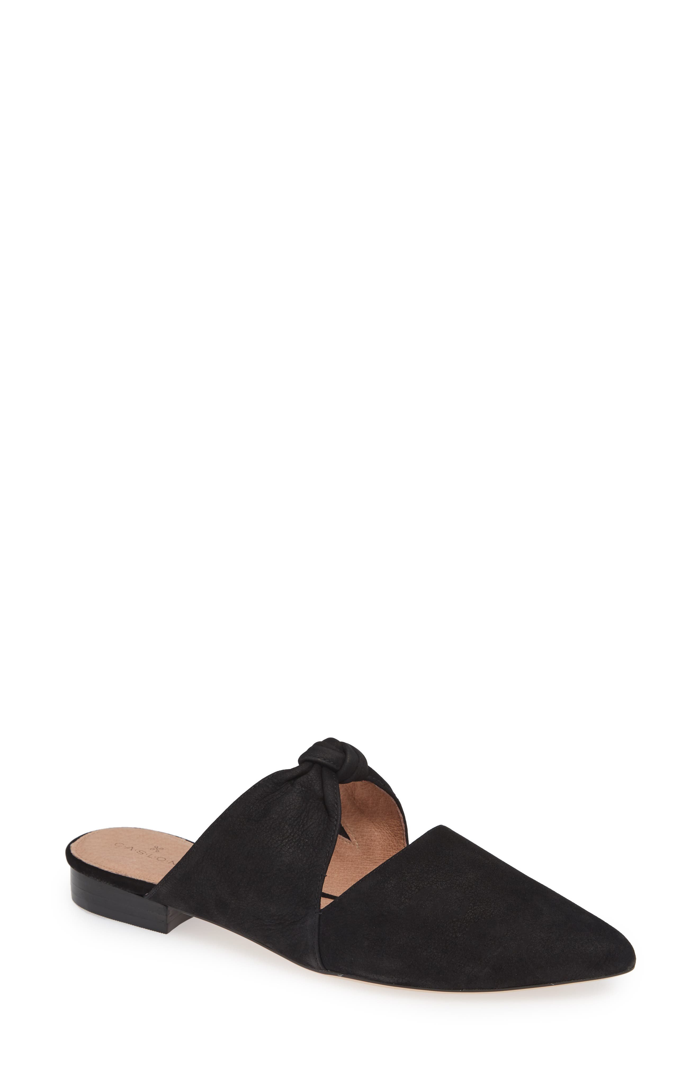 Luke Knotted Mule,                         Main,                         color, BLACK NUBUCK
