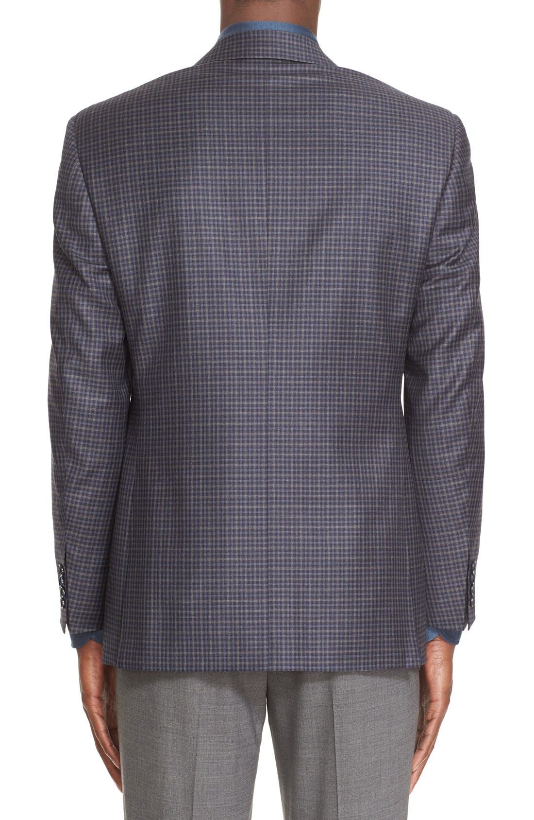 Classic Fit Check Wool Sport Coat,                             Alternate thumbnail 2, color,                             404