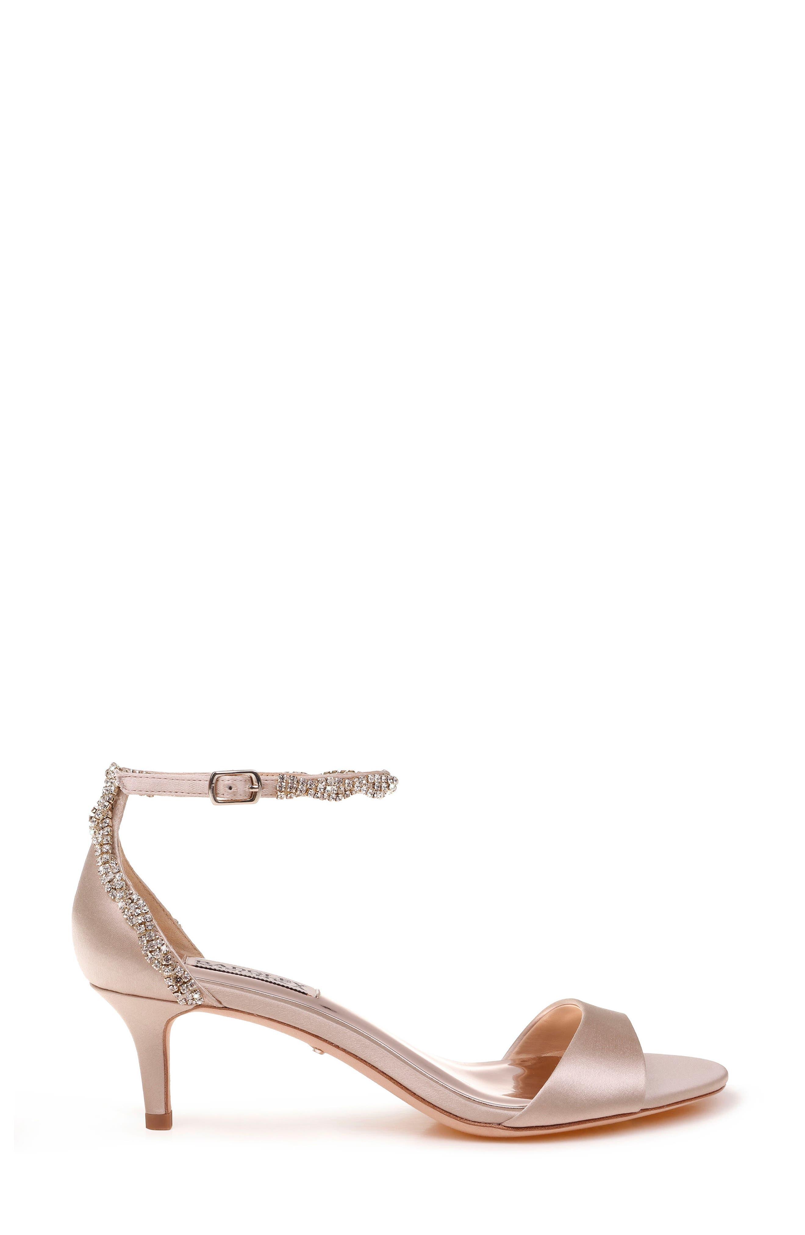 Yareli Crystal Embellished Sandal,                             Alternate thumbnail 3, color,                             NUDE SATIN