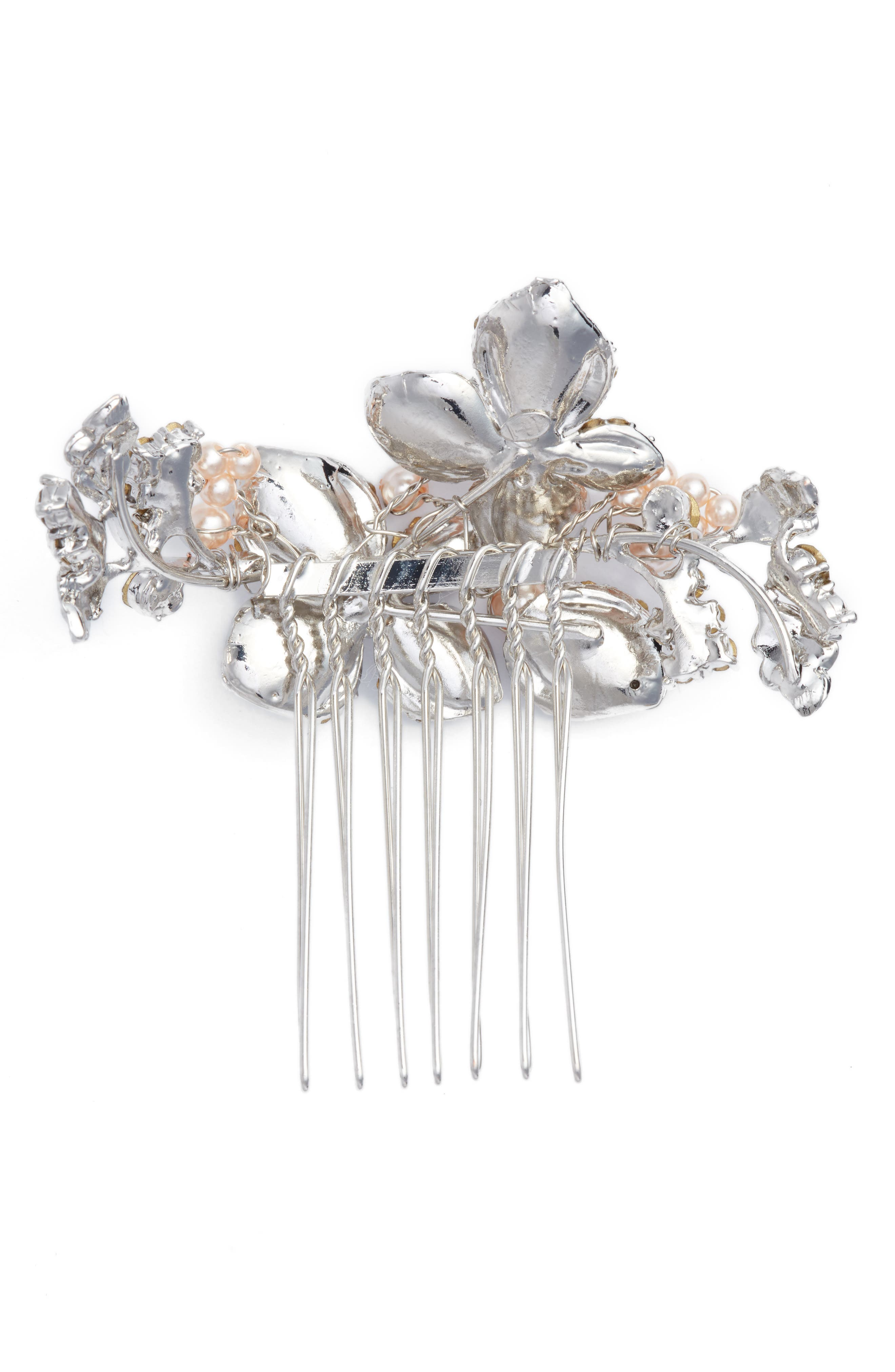 'Petite Garden' Crystal Hair Comb,                             Alternate thumbnail 2, color,                             680