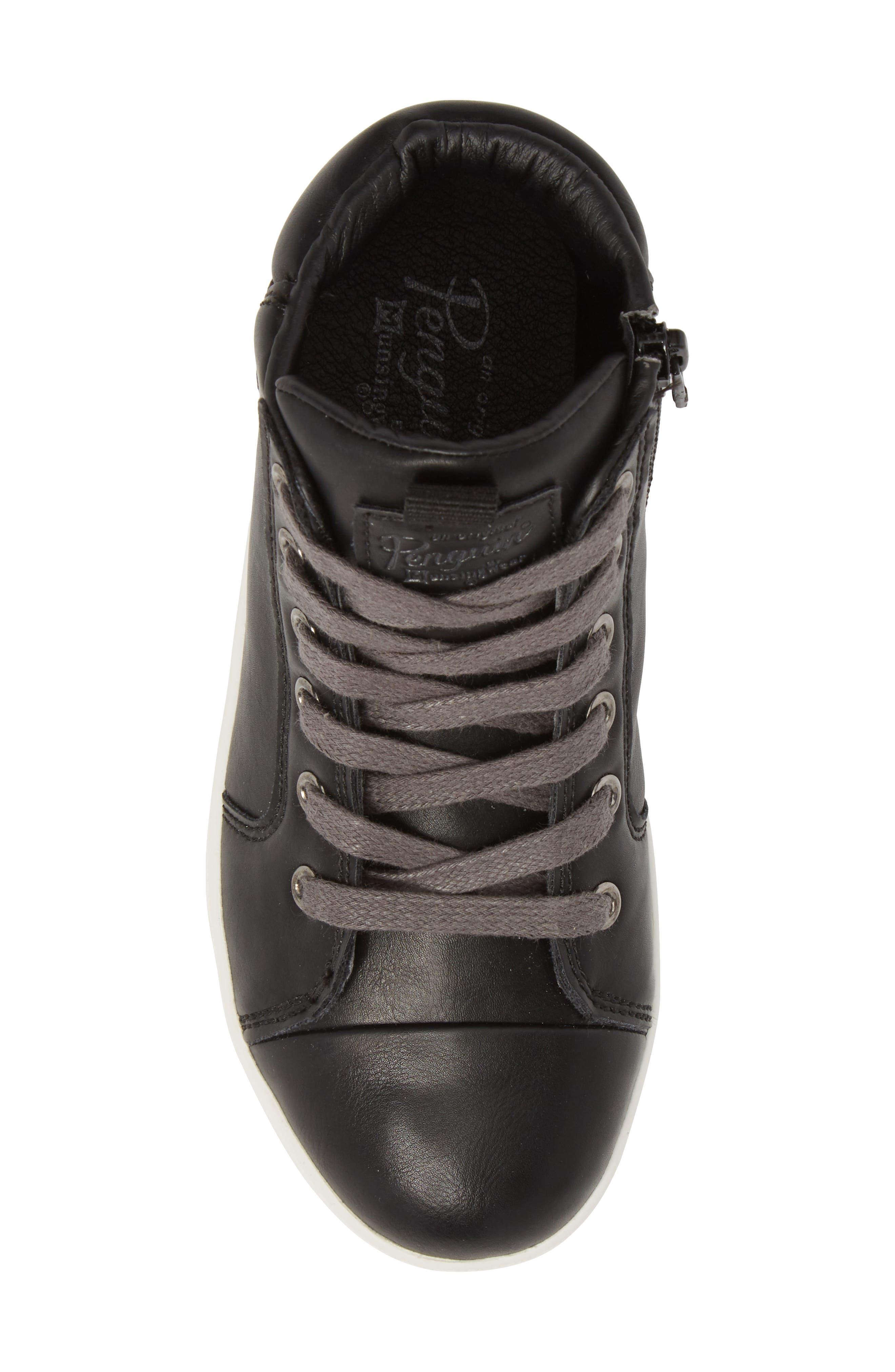 Carson High Top Sneaker,                             Alternate thumbnail 5, color,                             BLACK