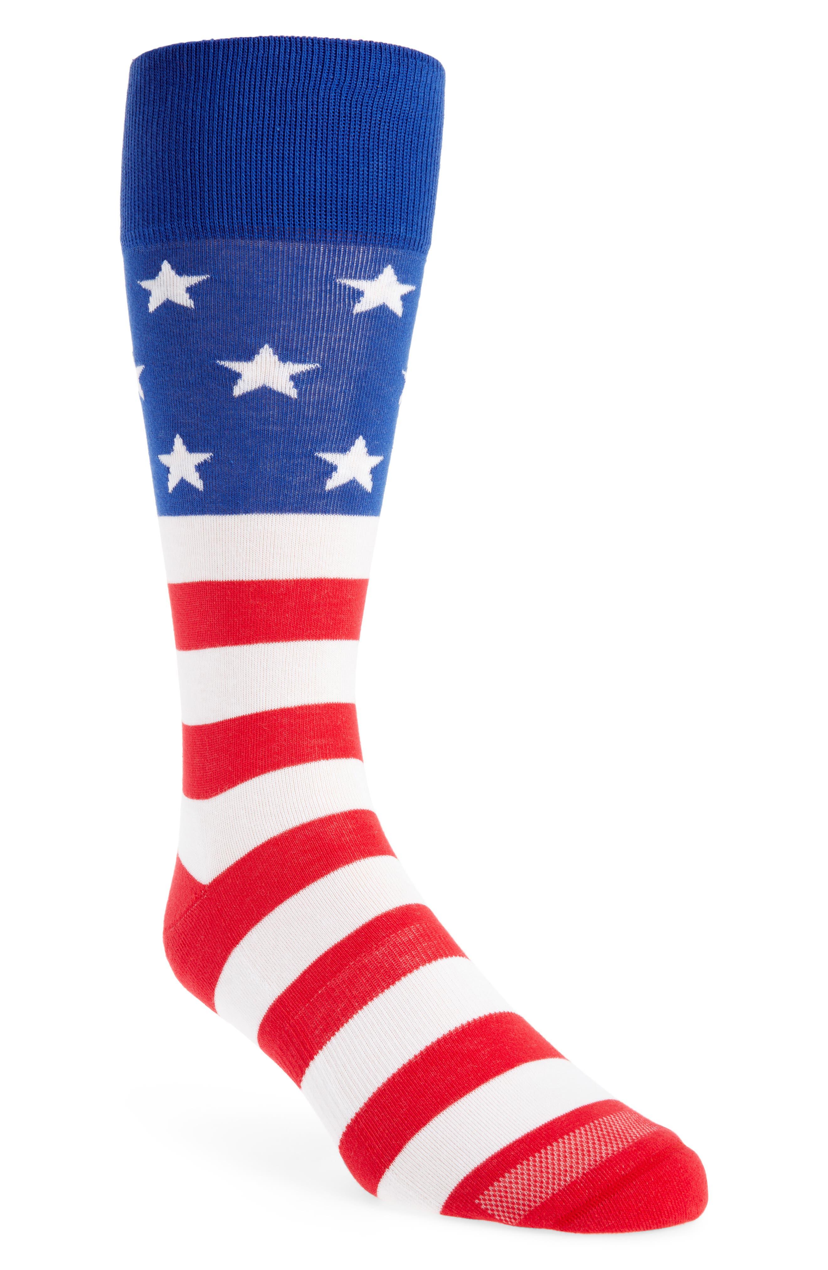 American Flag Socks,                             Main thumbnail 1, color,                             RED/ WHITE/ BLUE