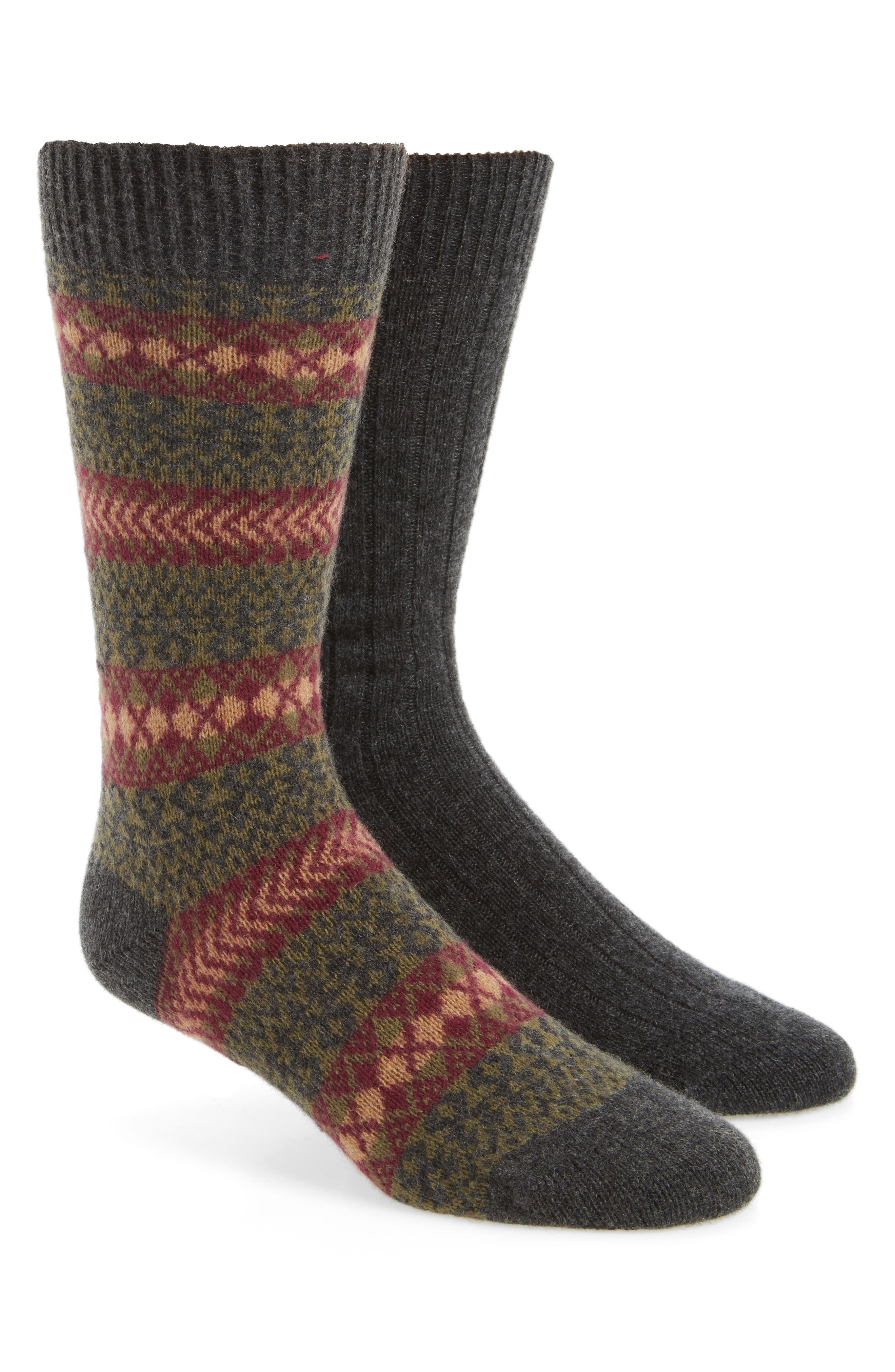 2-Pack Cashmere Blend Socks,                             Main thumbnail 1, color,