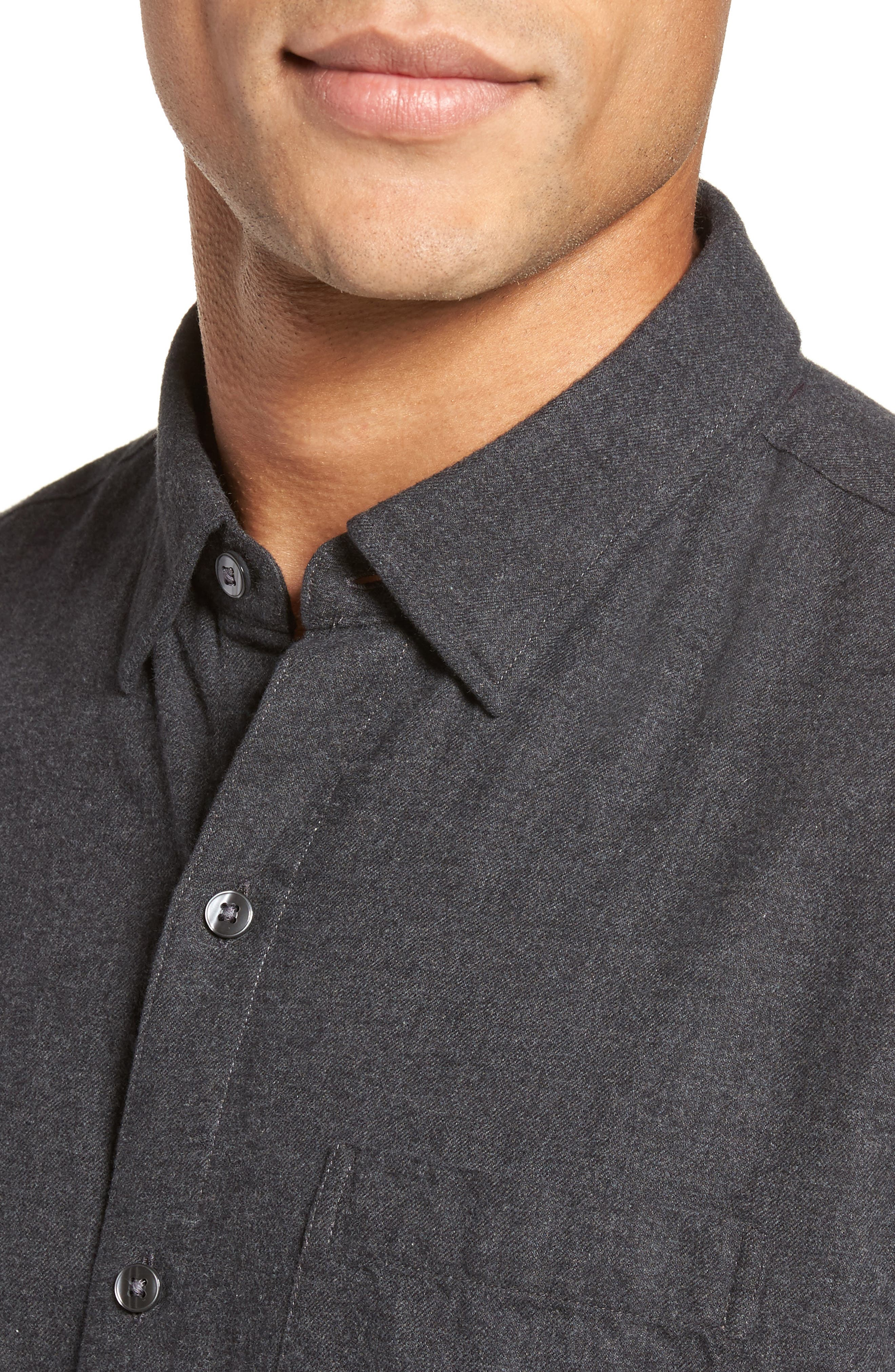 Slim Fit Brushed Twill Sport Shirt,                             Alternate thumbnail 4, color,                             020