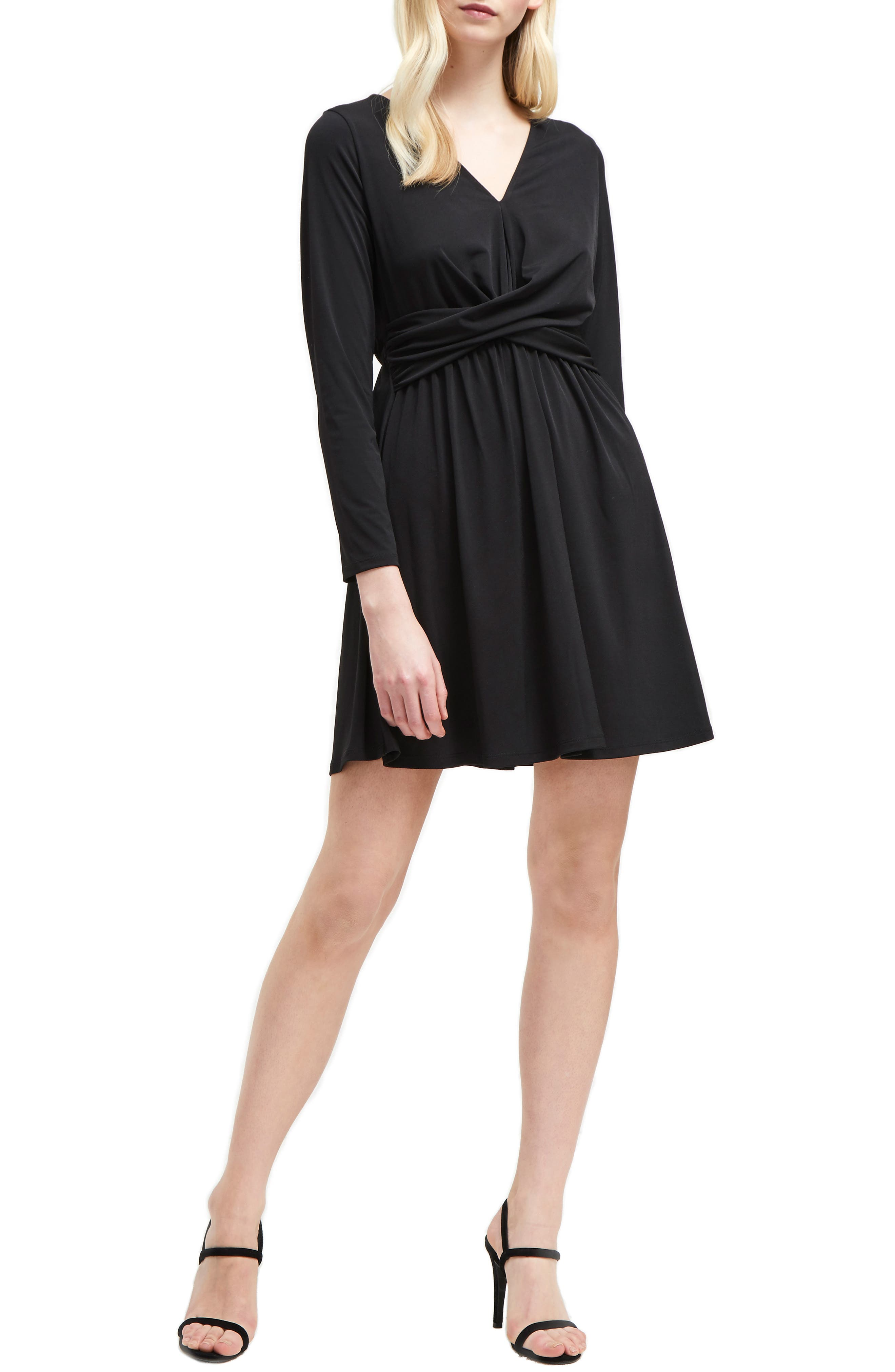French Connection Alexia Crepe Jersey A-Line Dress, Black