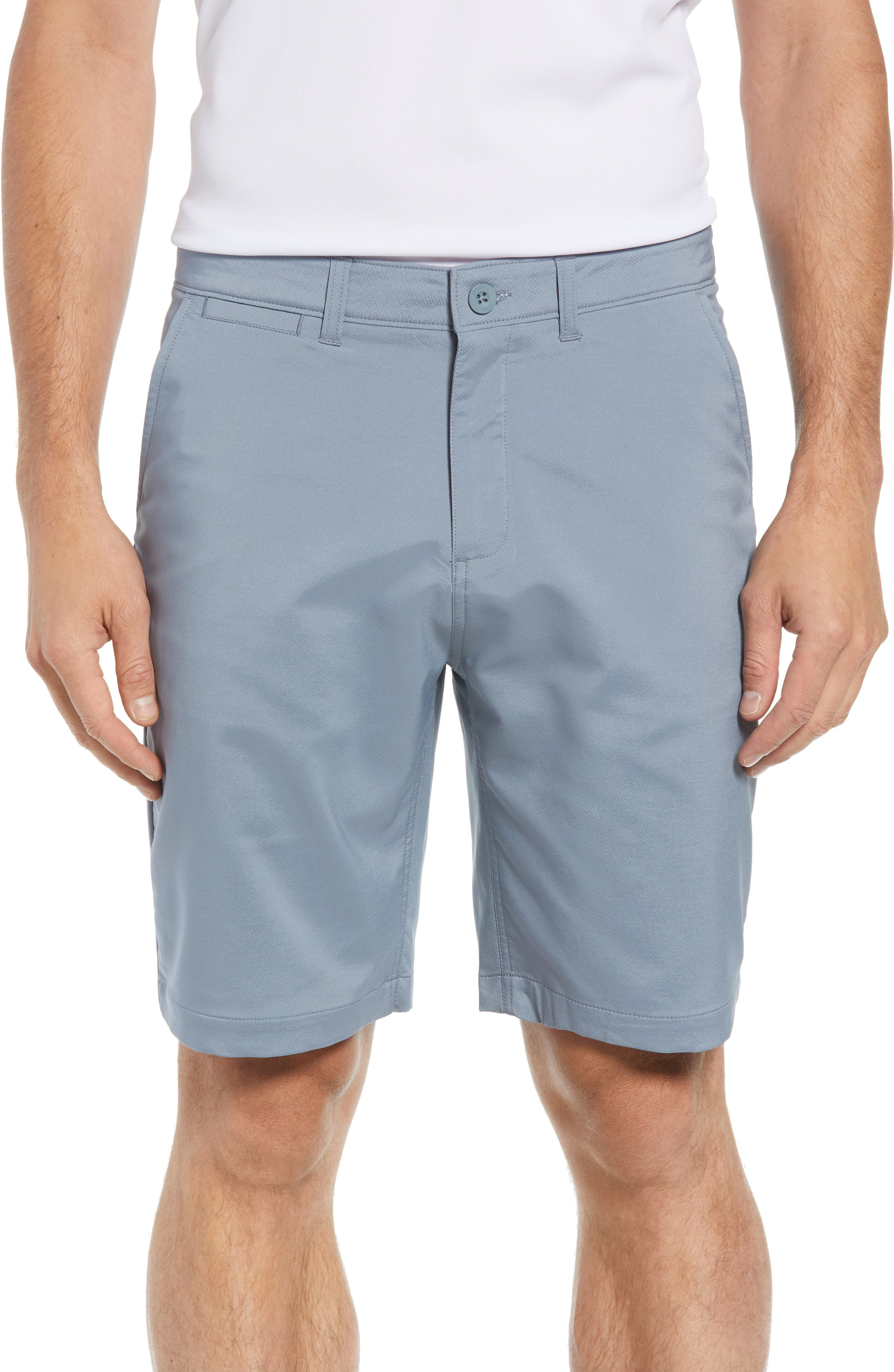 Mulligan Regular Fit Prep-Formance Shorts,                         Main,                         color, CLOUDBREAK