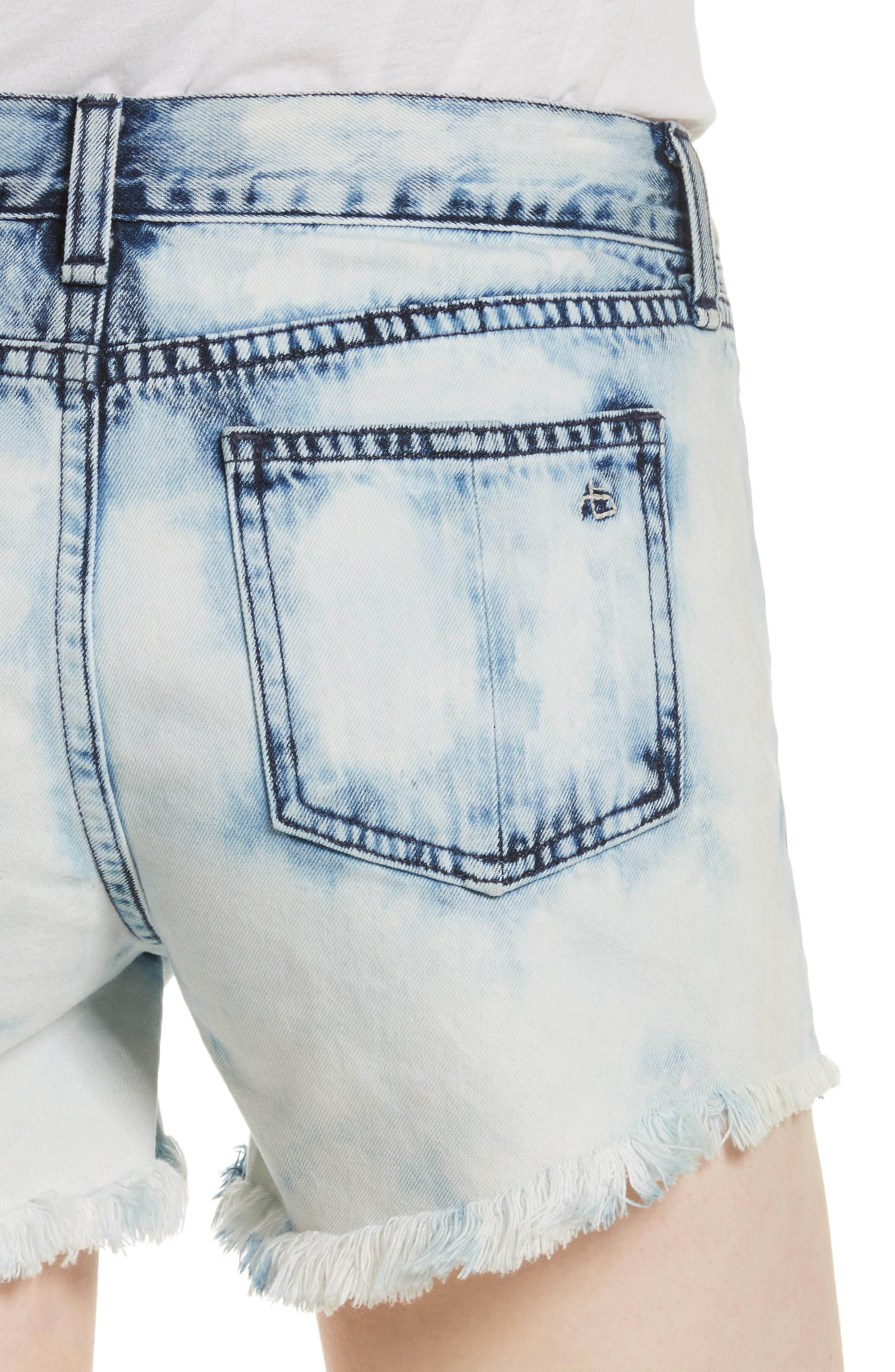 Cutoff Denim Shorts,                             Alternate thumbnail 4, color,                             490