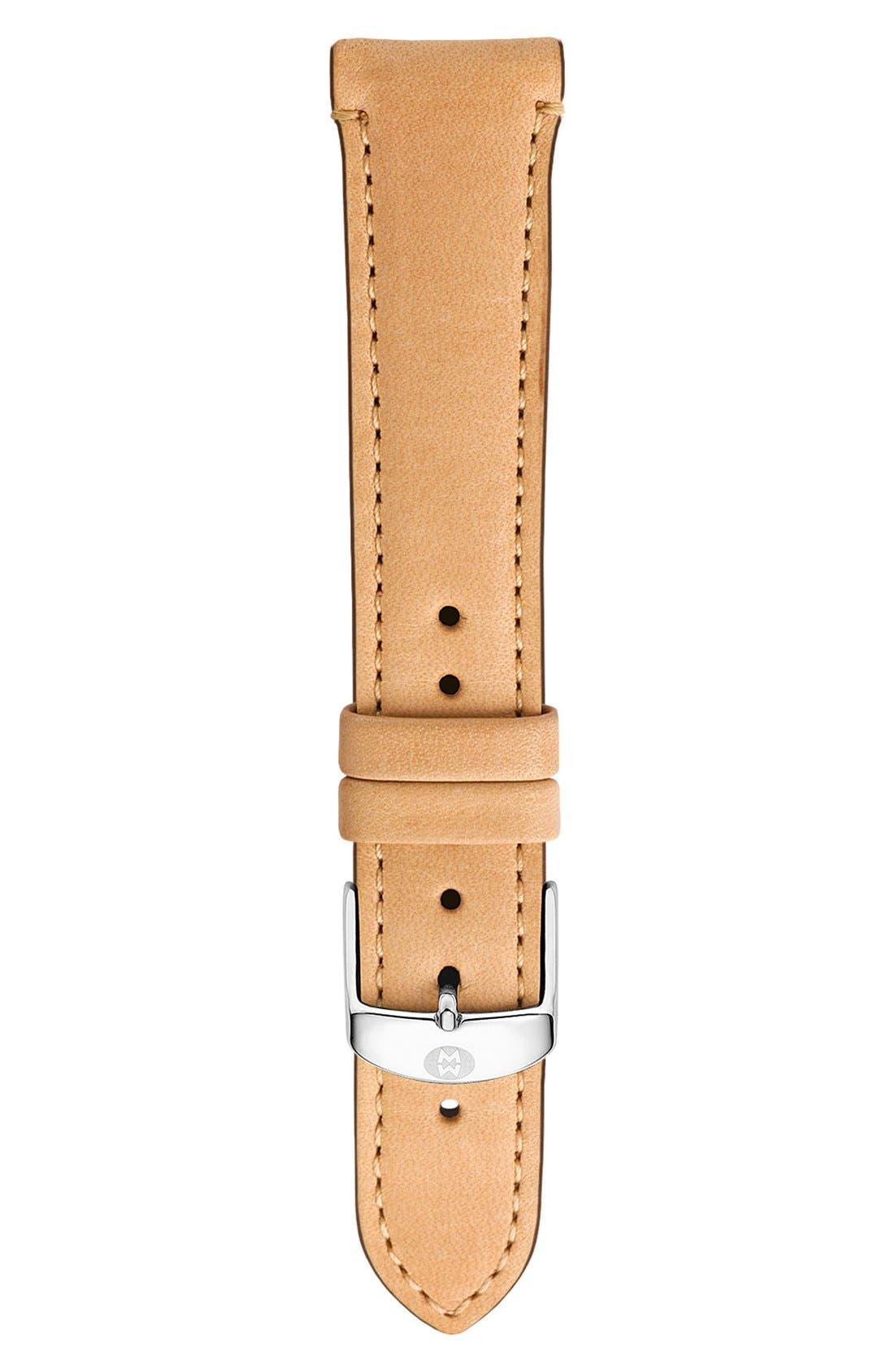 16mm Leather Watch Strap,                         Main,                         color, TAN