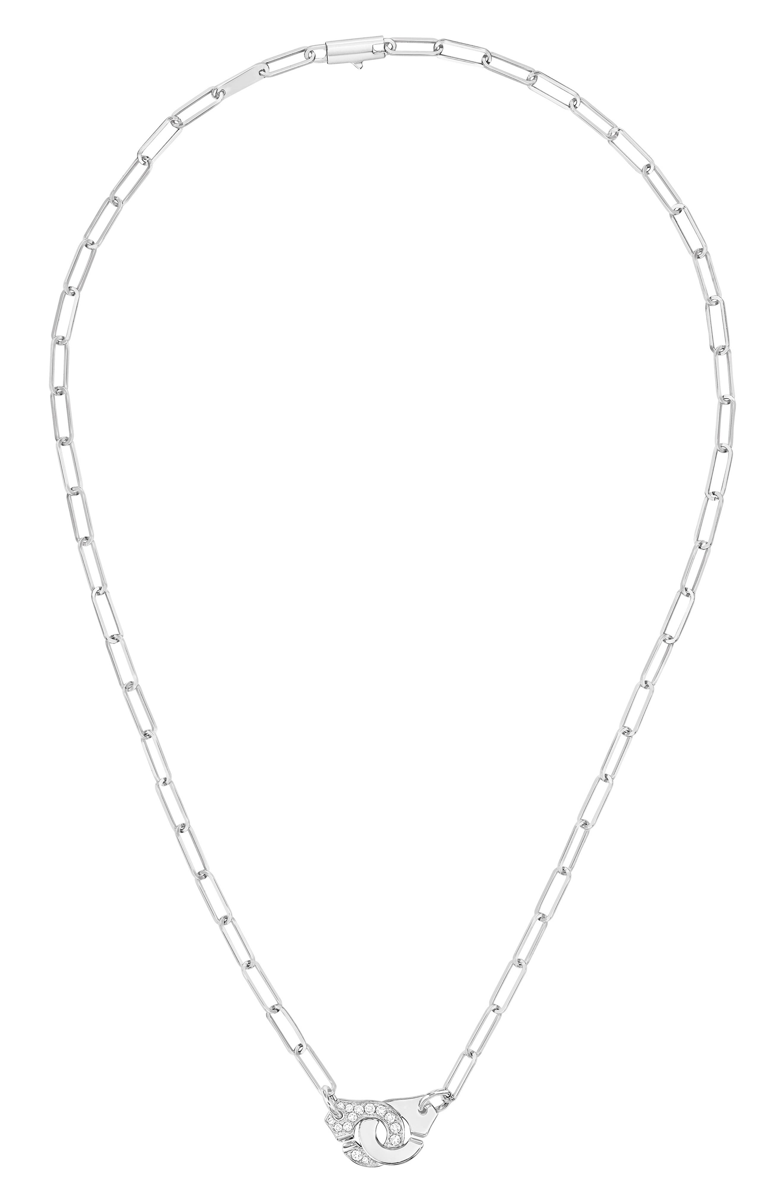 DINH VAN Menottes Diamond Necklace in White Gold