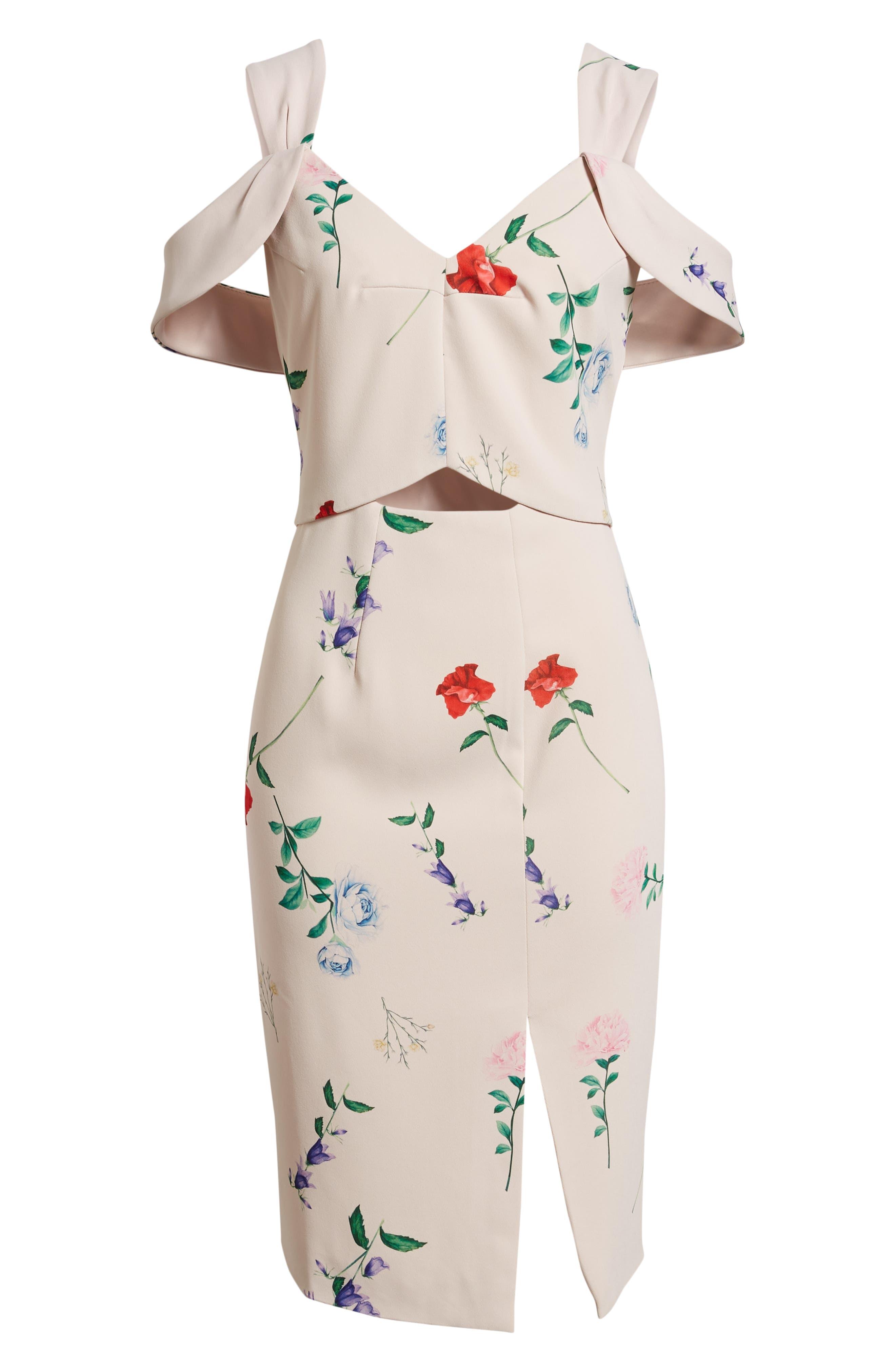 Archibald Cold Shoulder Cutout Detail Dress,                             Alternate thumbnail 7, color,                             650