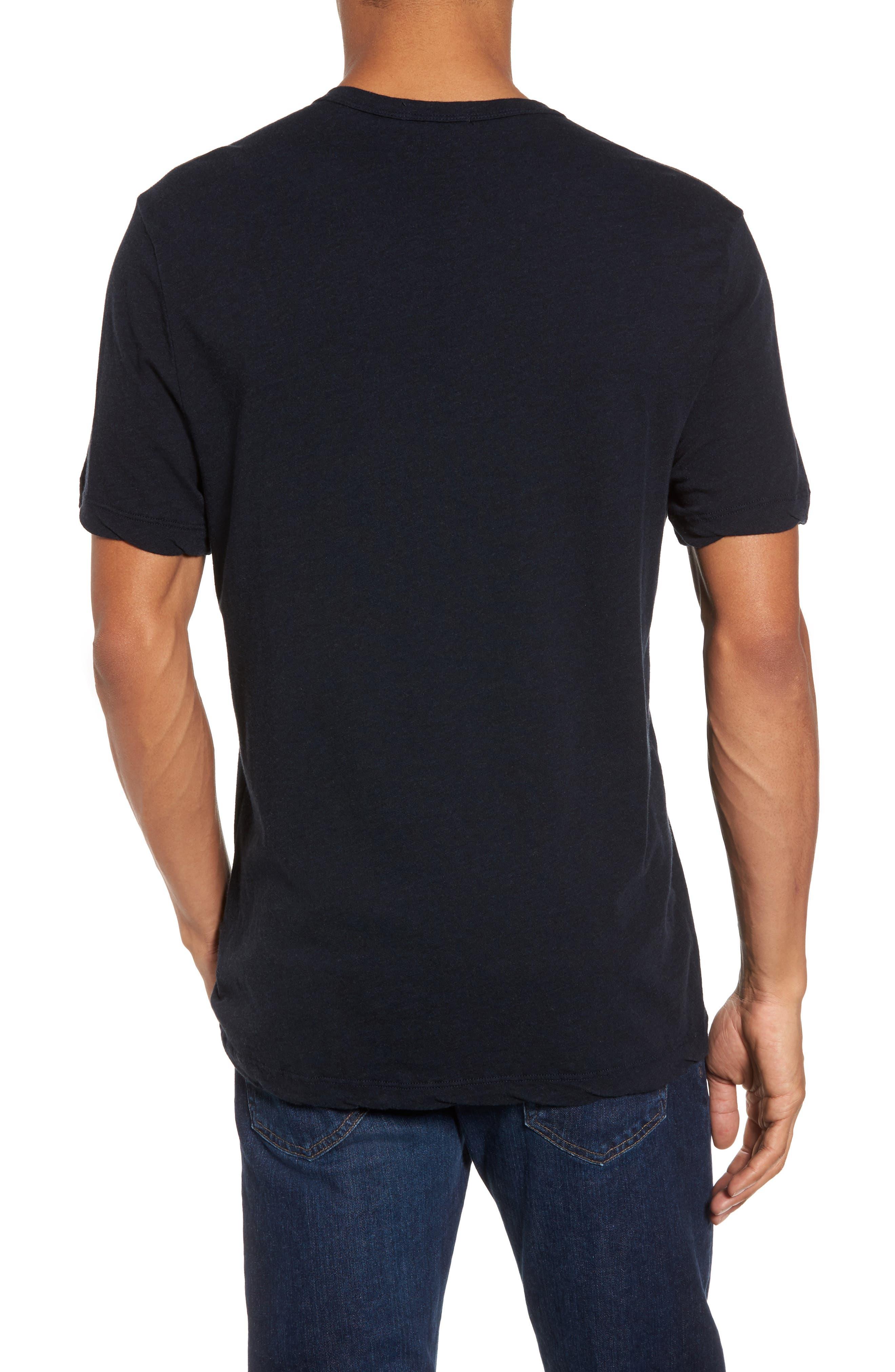 Contrast Stitch Henley T-Shirt,                             Alternate thumbnail 4, color,