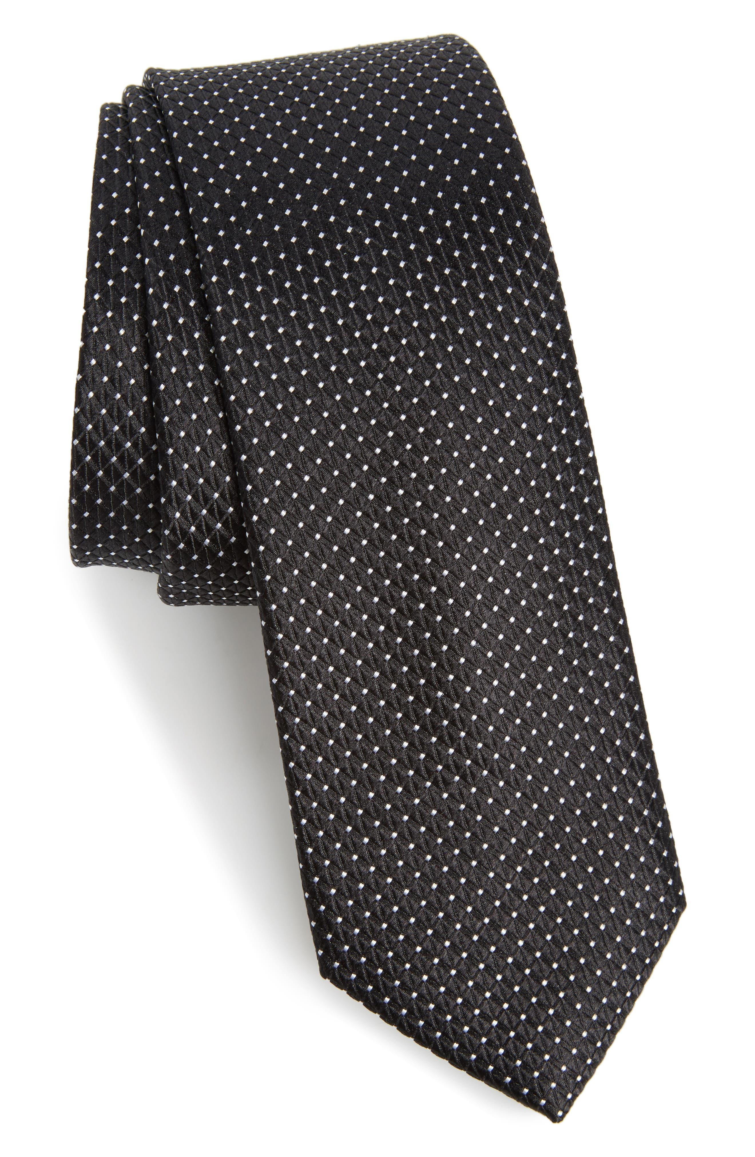 Nordstrom Men's Shop Hammond Neat Silk Tie,                         Main,                         color, 001