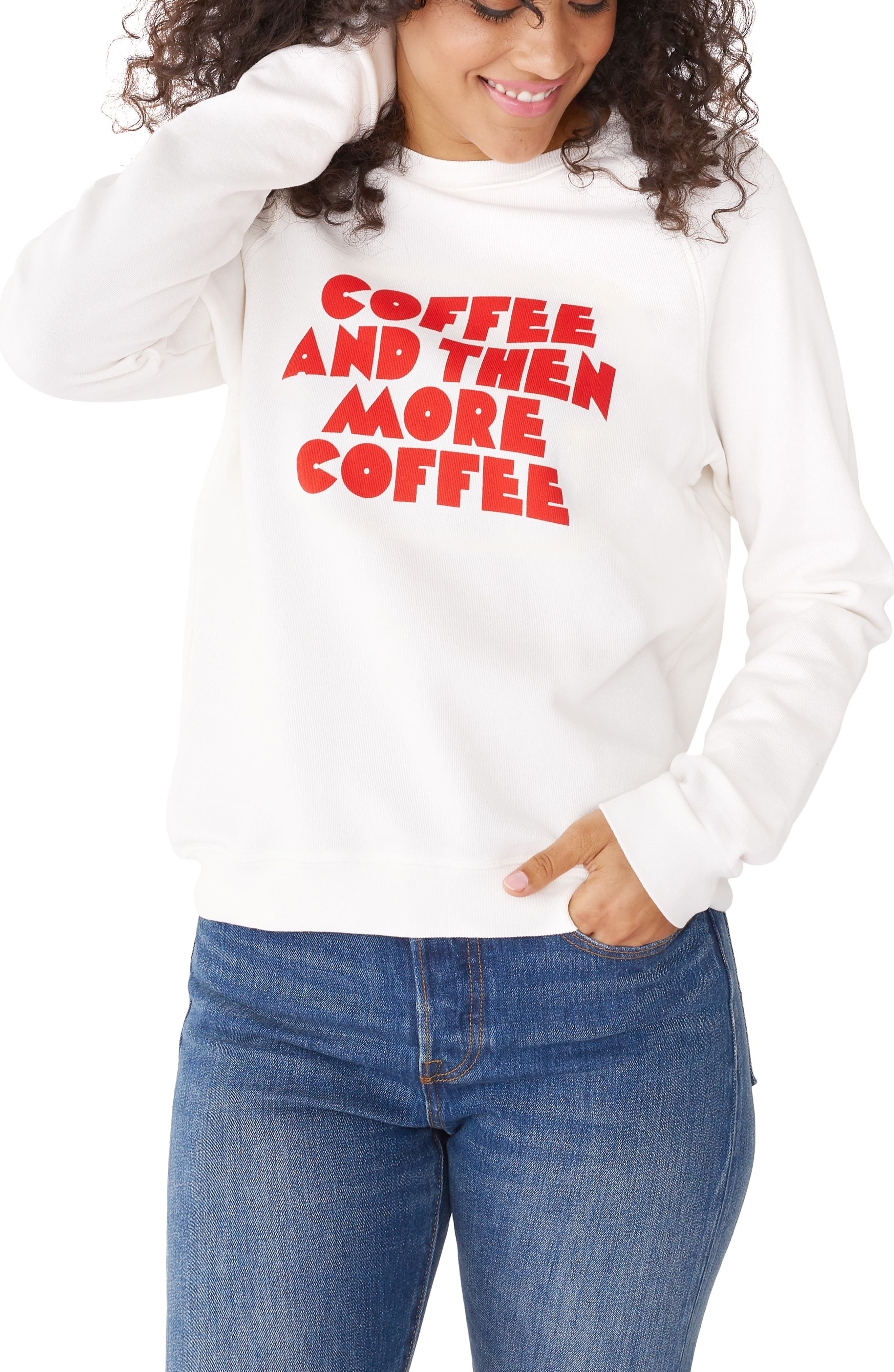 BAN.DO Ban. Do Coffee & More Coffee Pullover in Ivory