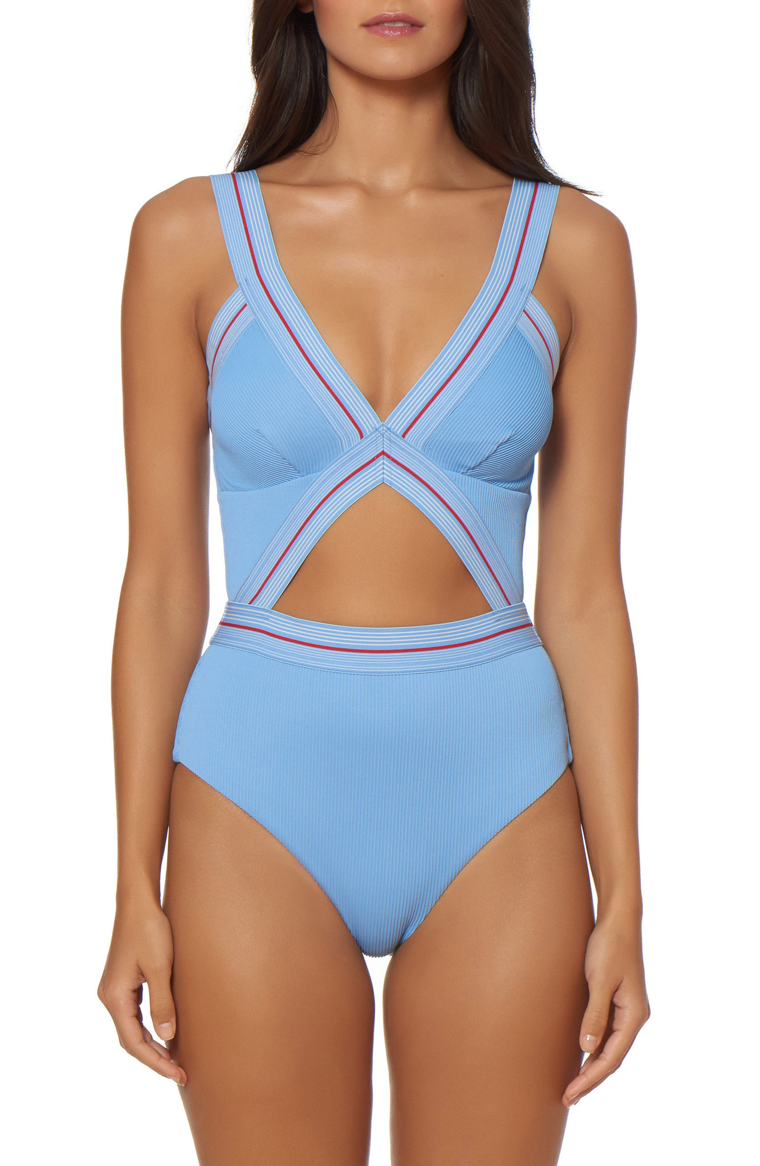 Bondi Beach One-Piece Swimsuit,                         Main,                         color, 452