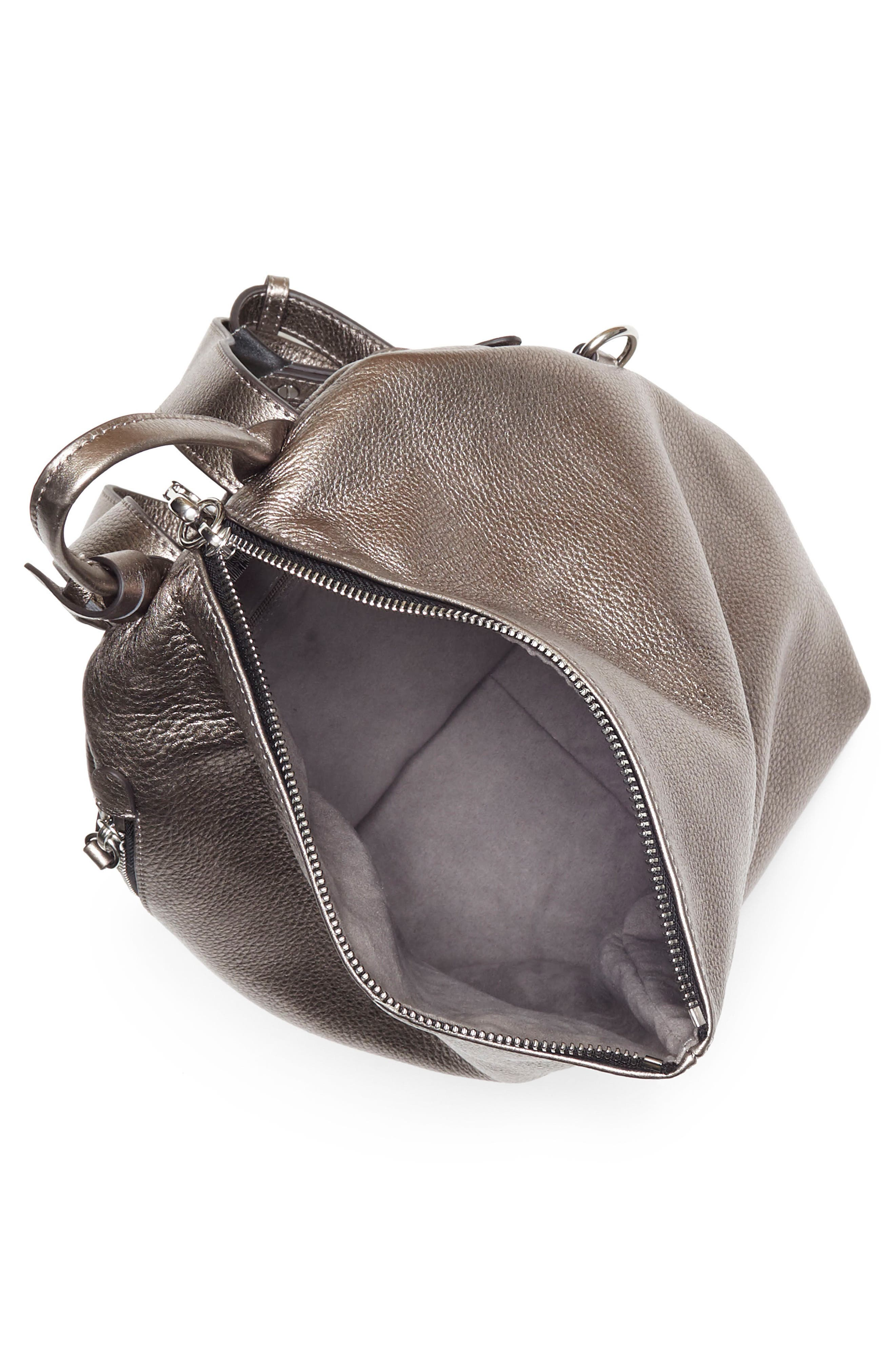 Small Giani Leather Backpack,                             Alternate thumbnail 3, color,                             020