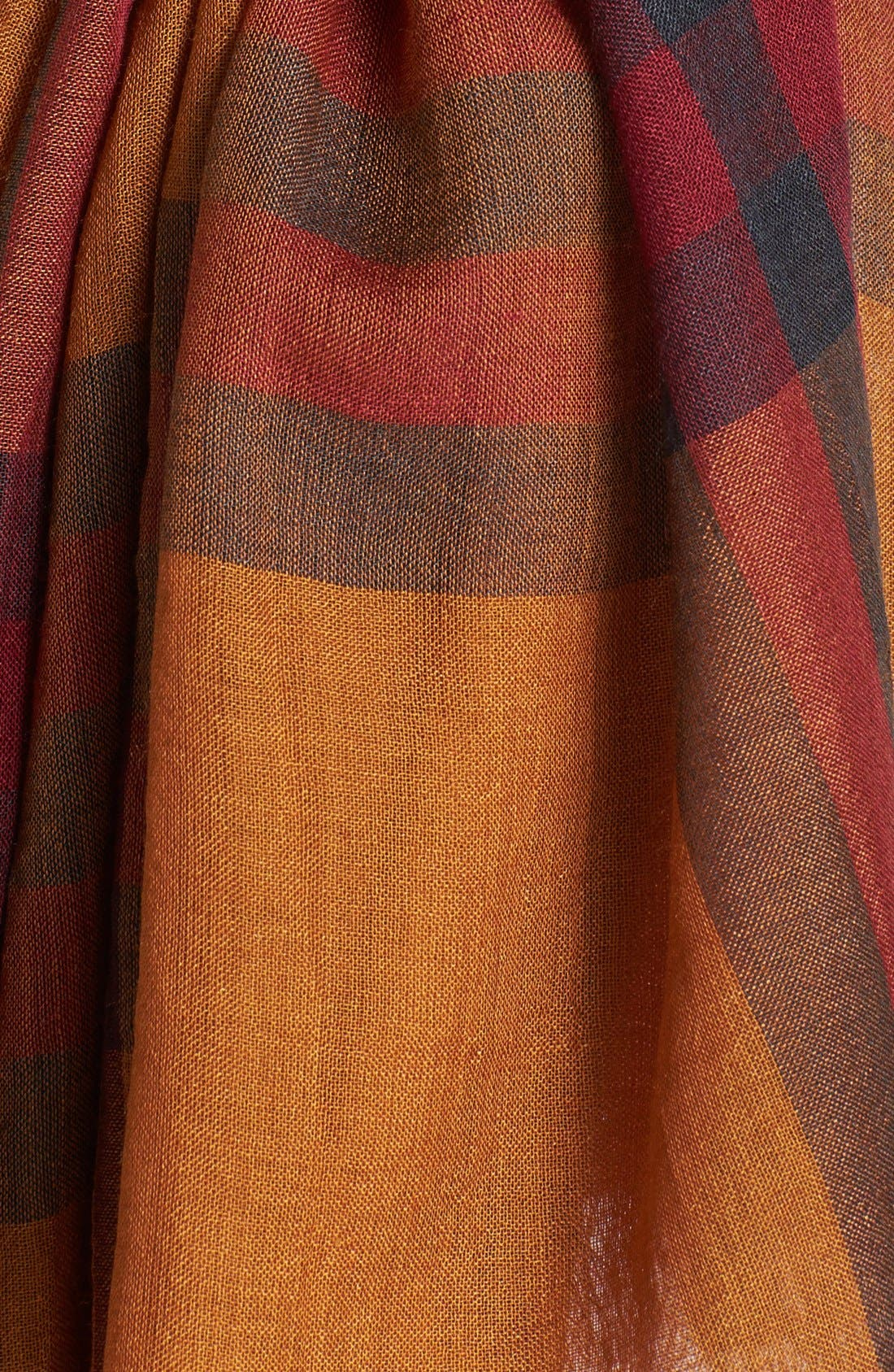 Giant Check Print Wool & Silk Scarf,                             Alternate thumbnail 82, color,