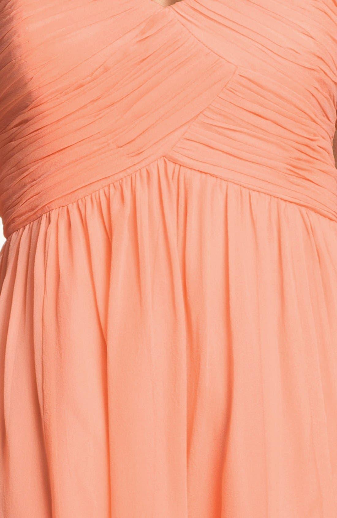 'Morgan' Strapless Silk Chiffon Dress,                             Alternate thumbnail 92, color,