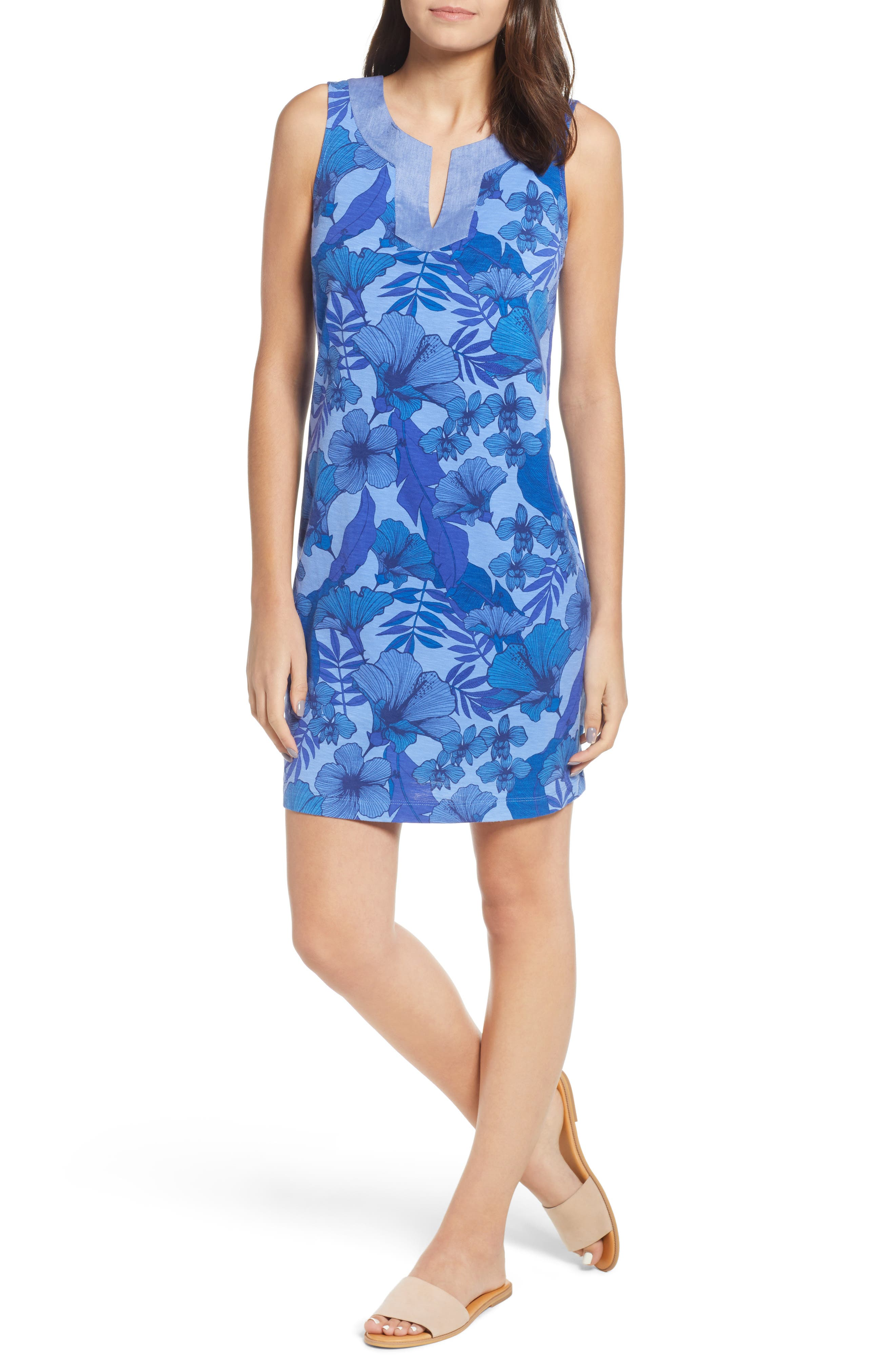 Tommy Bahama Lily Of The Jungle Shift Dress, Blue