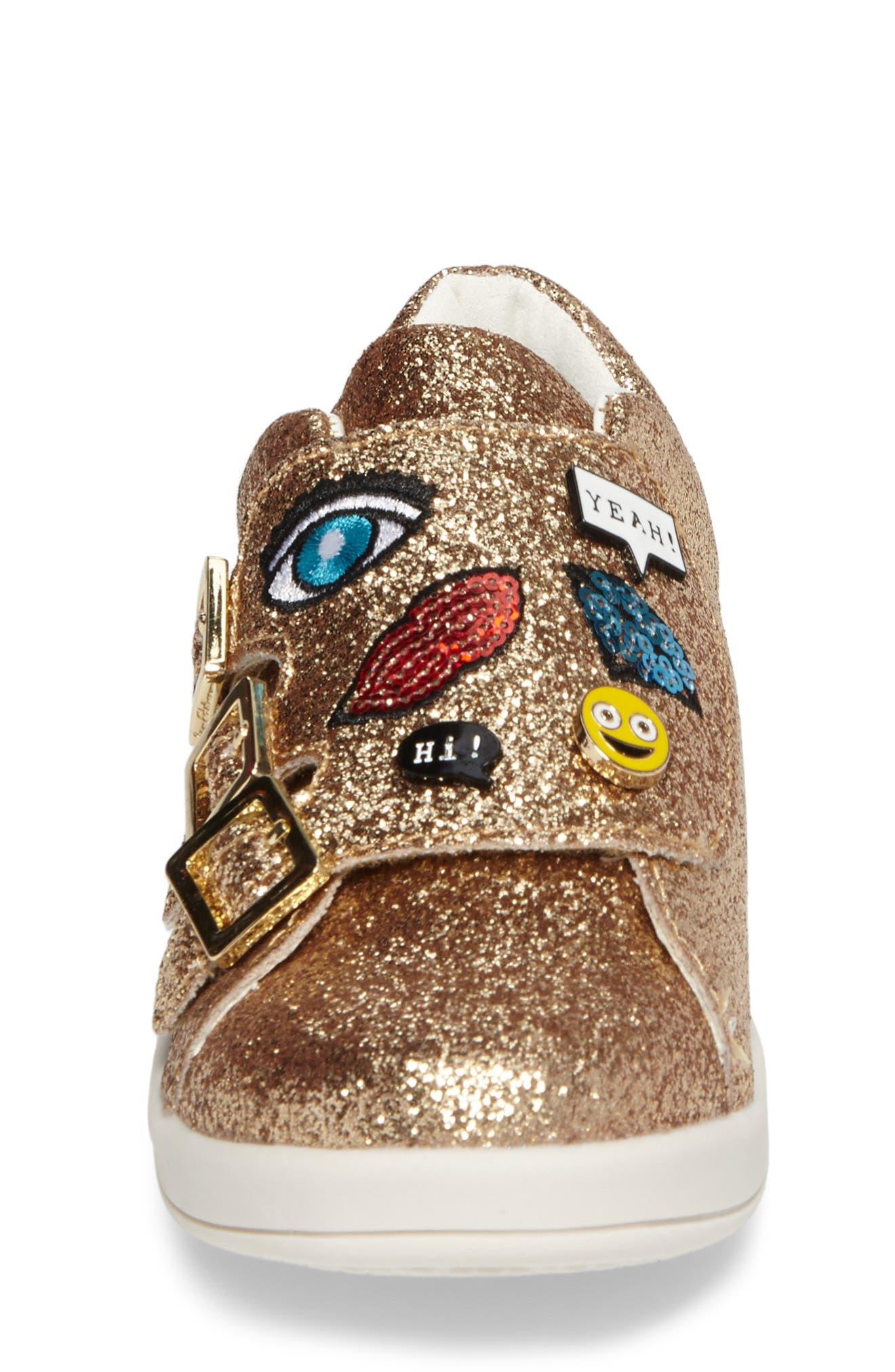 Liv Wendy Glitter Emoji Sneaker,                             Alternate thumbnail 4, color,                             710