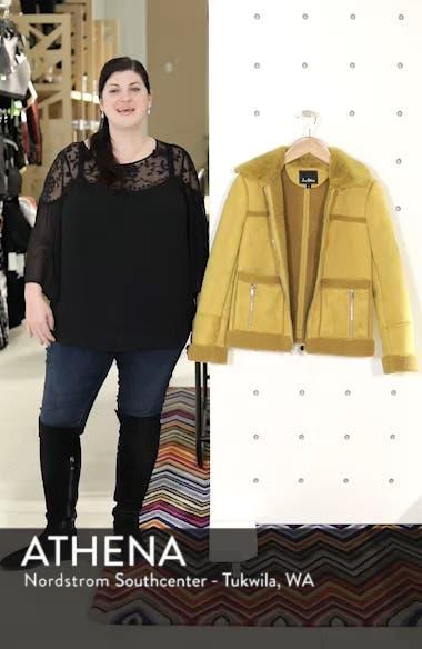 Faux Shearling Zip Front Jacket, sales video thumbnail