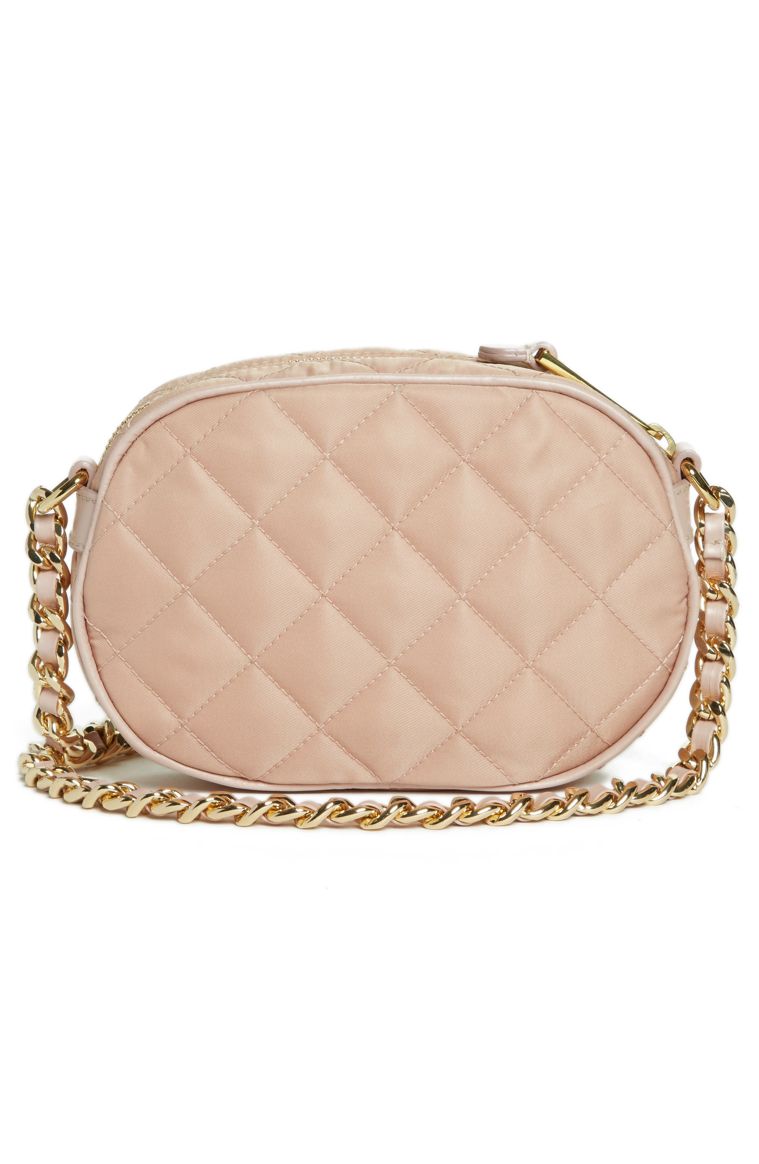 Small Quilted Camera Bag,                             Alternate thumbnail 3, color,                             PINK